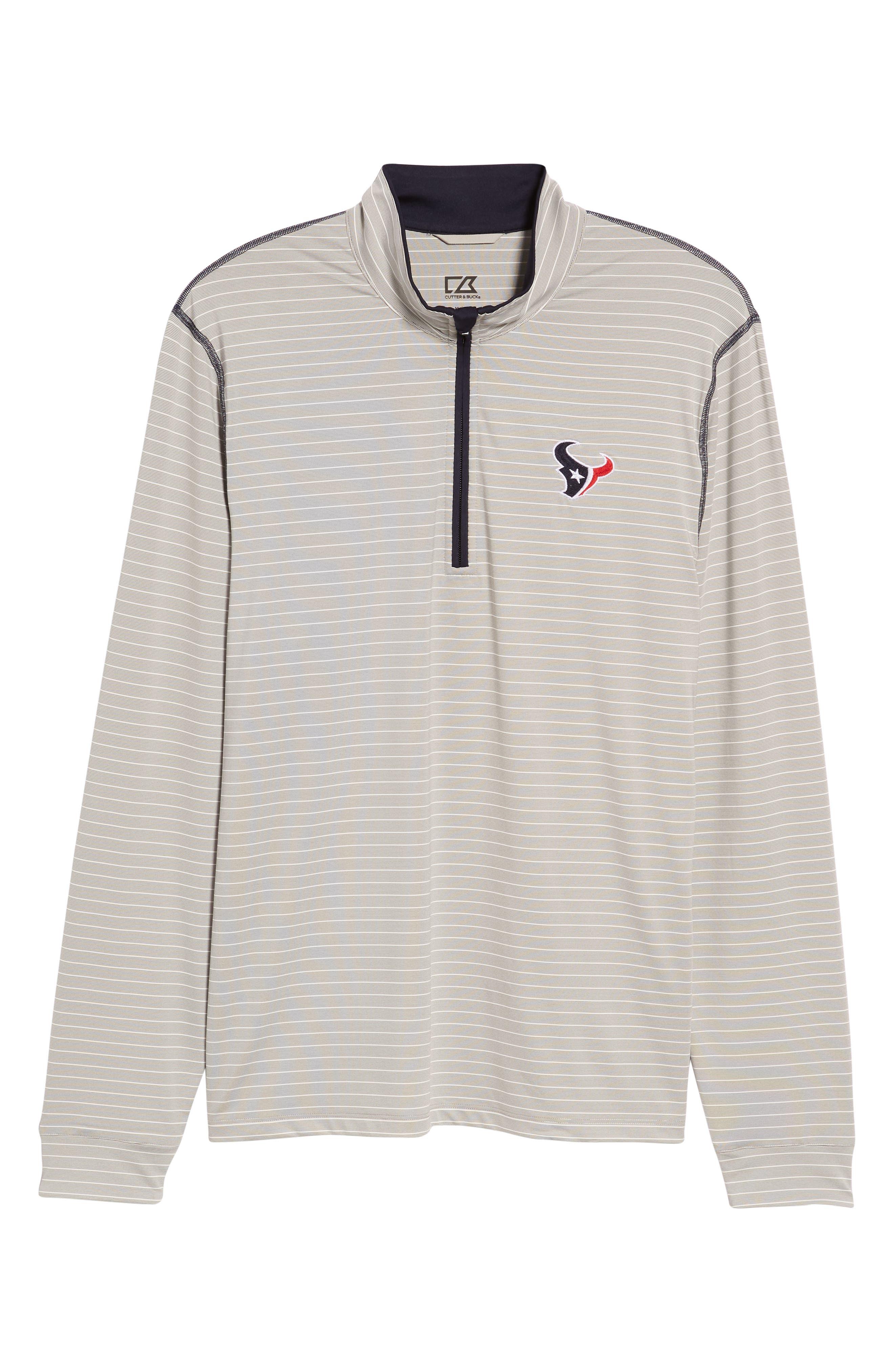Meridian - Houston Texans Regular Fit Half Zip Pullover,                             Alternate thumbnail 6, color,                             NAVY