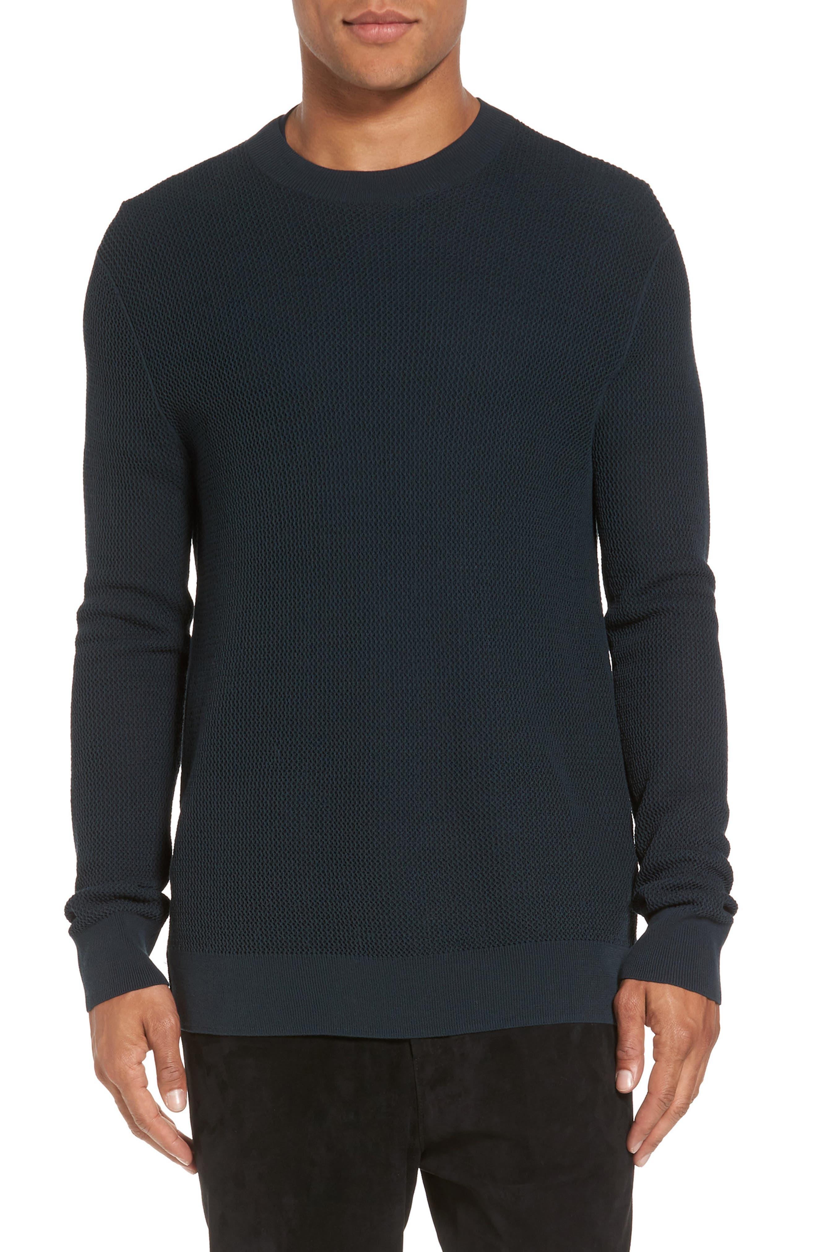 Mesh Crewneck Sweater,                             Main thumbnail 2, color,