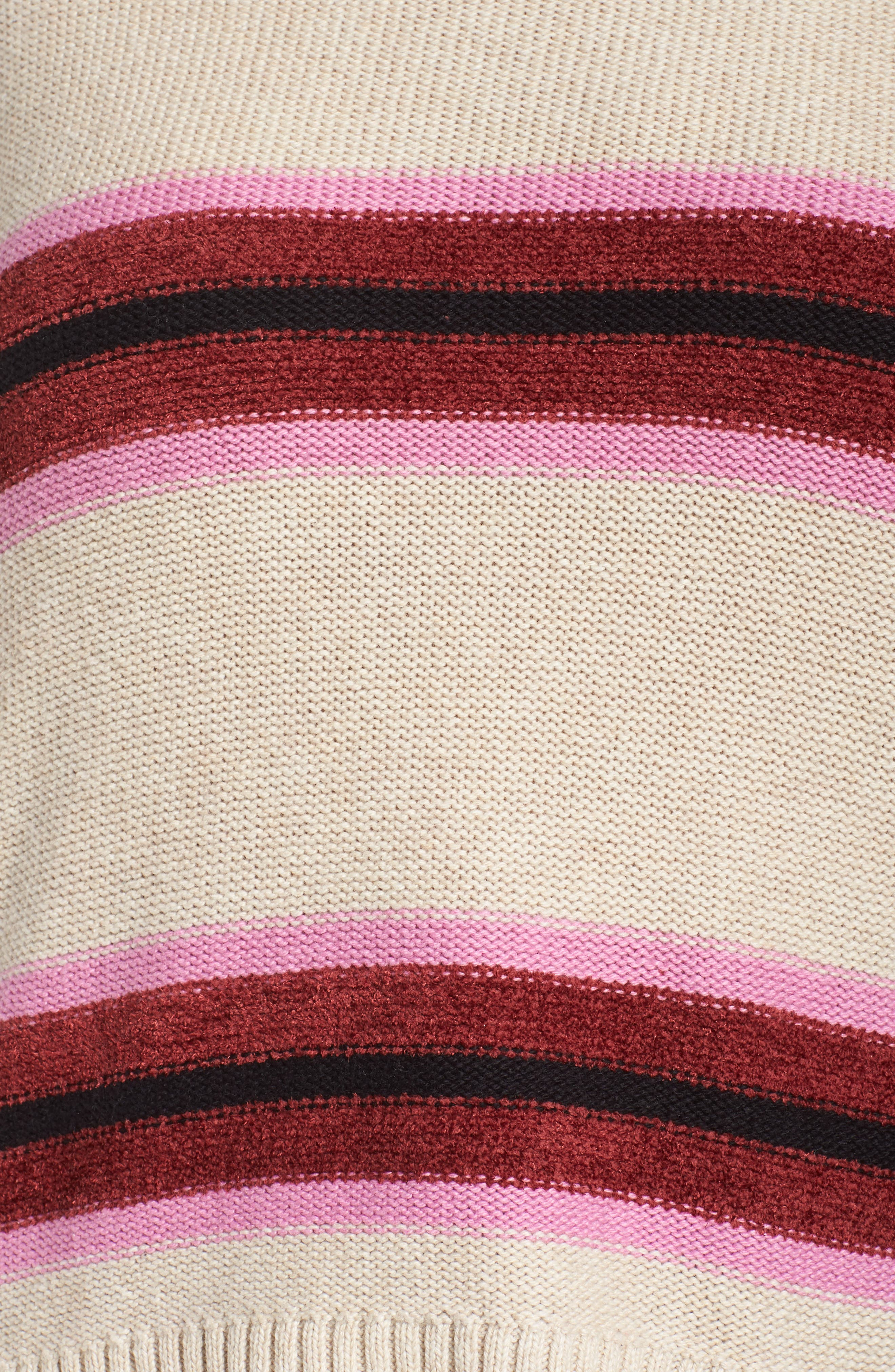 Everyday Stripe Sweater,                             Alternate thumbnail 5, color,                             BEIGE HEATHER ROBYN STRIPE
