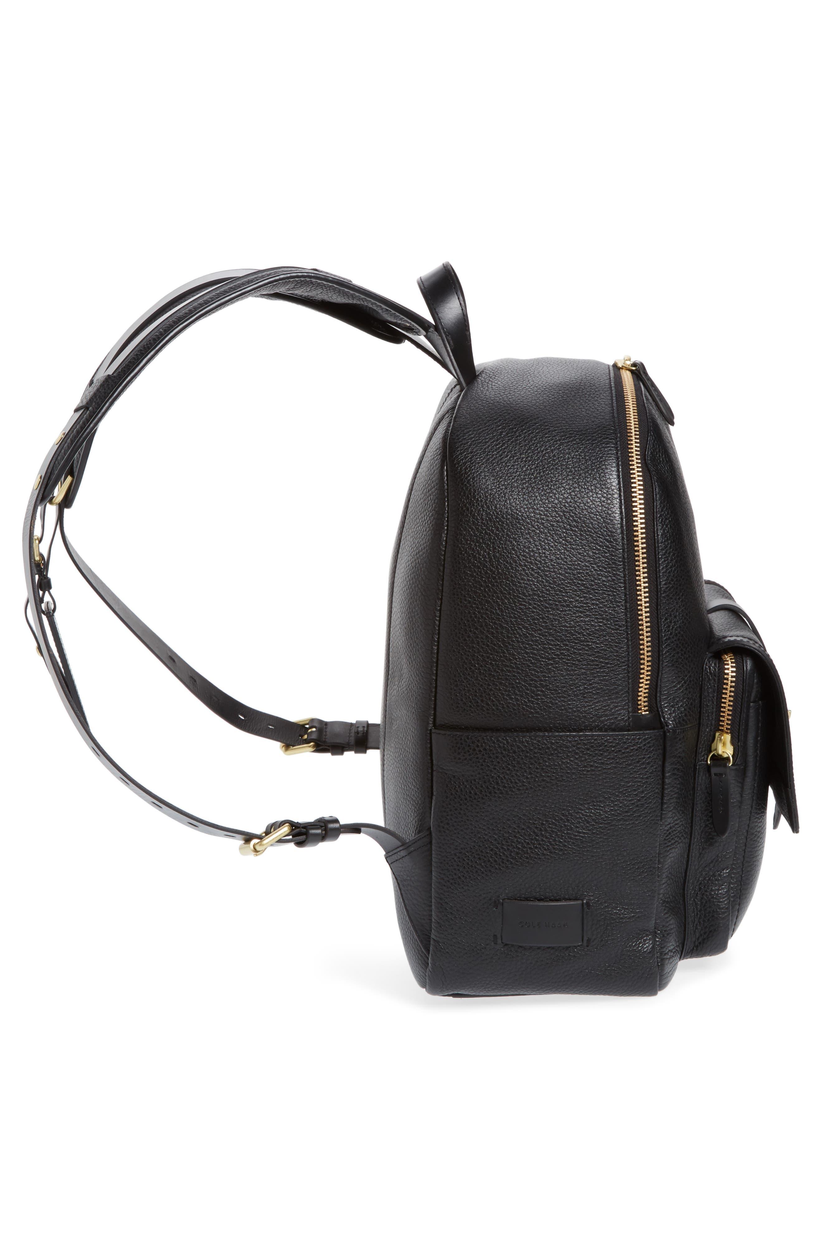 Brayton Leather Backpack,                             Alternate thumbnail 5, color,                             001