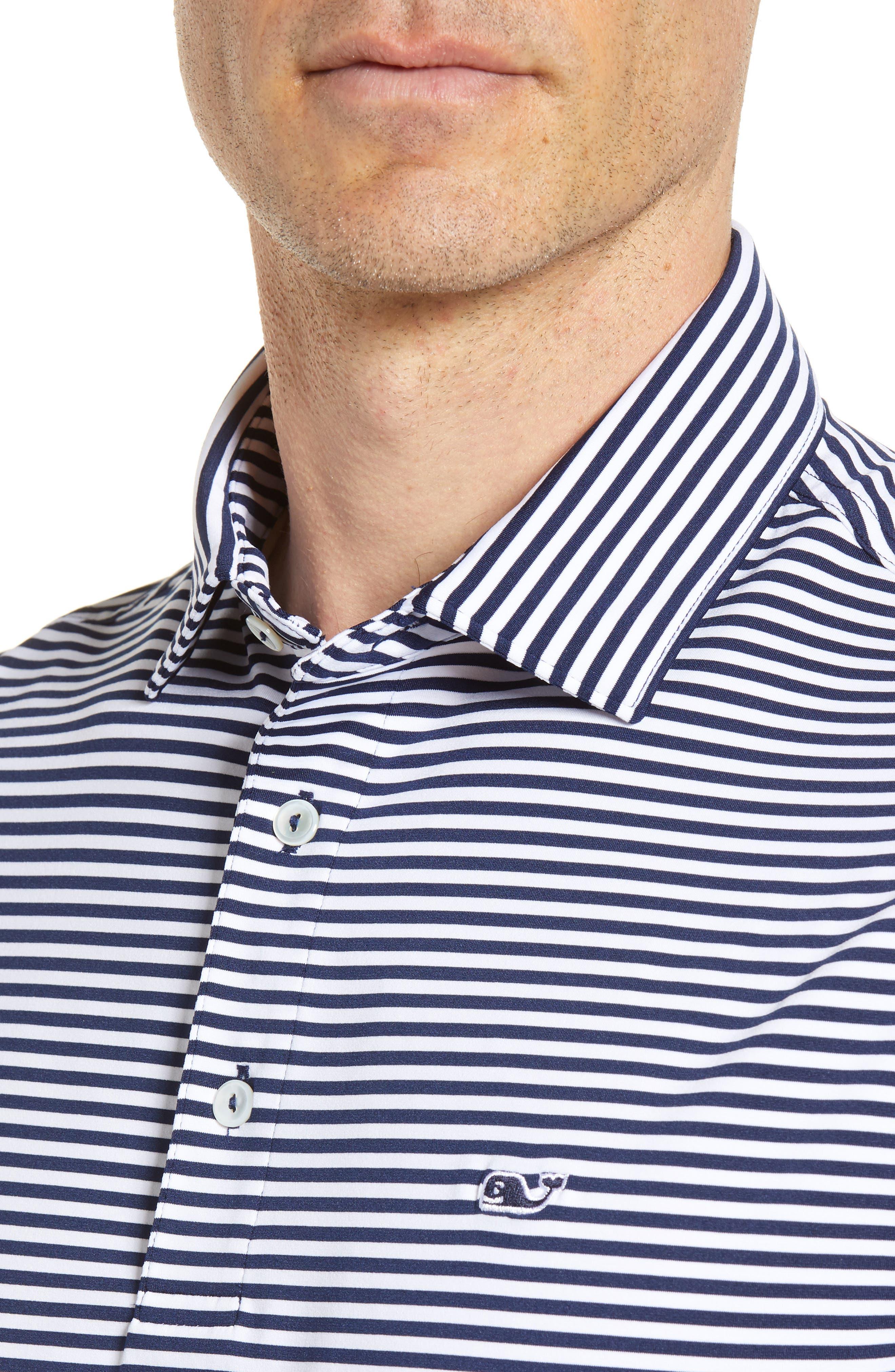 Color to White Feeder Stripe Polo,                             Alternate thumbnail 4, color,                             976