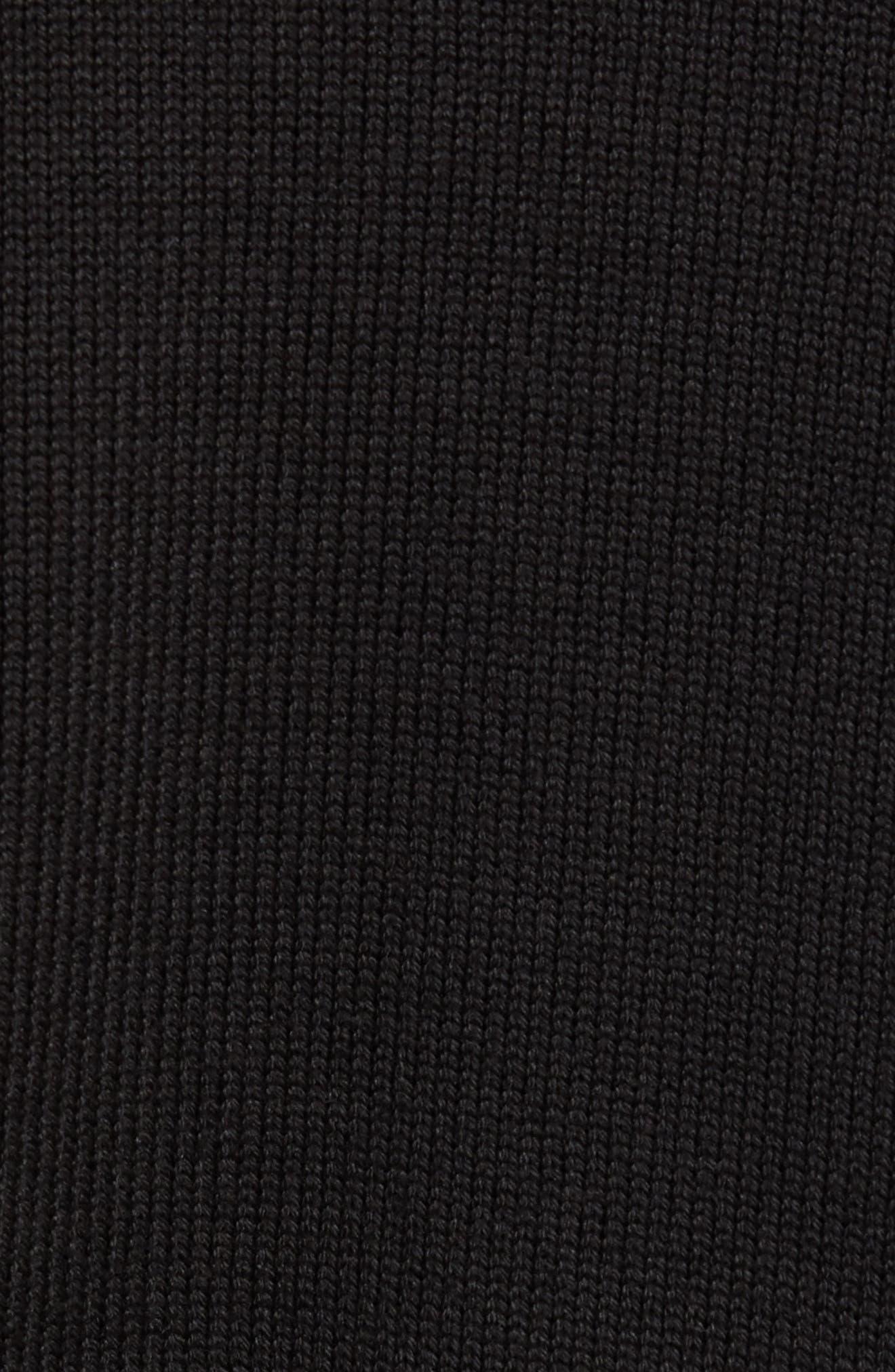 Lined Jean Jacket,                             Alternate thumbnail 5, color,                             BLACK