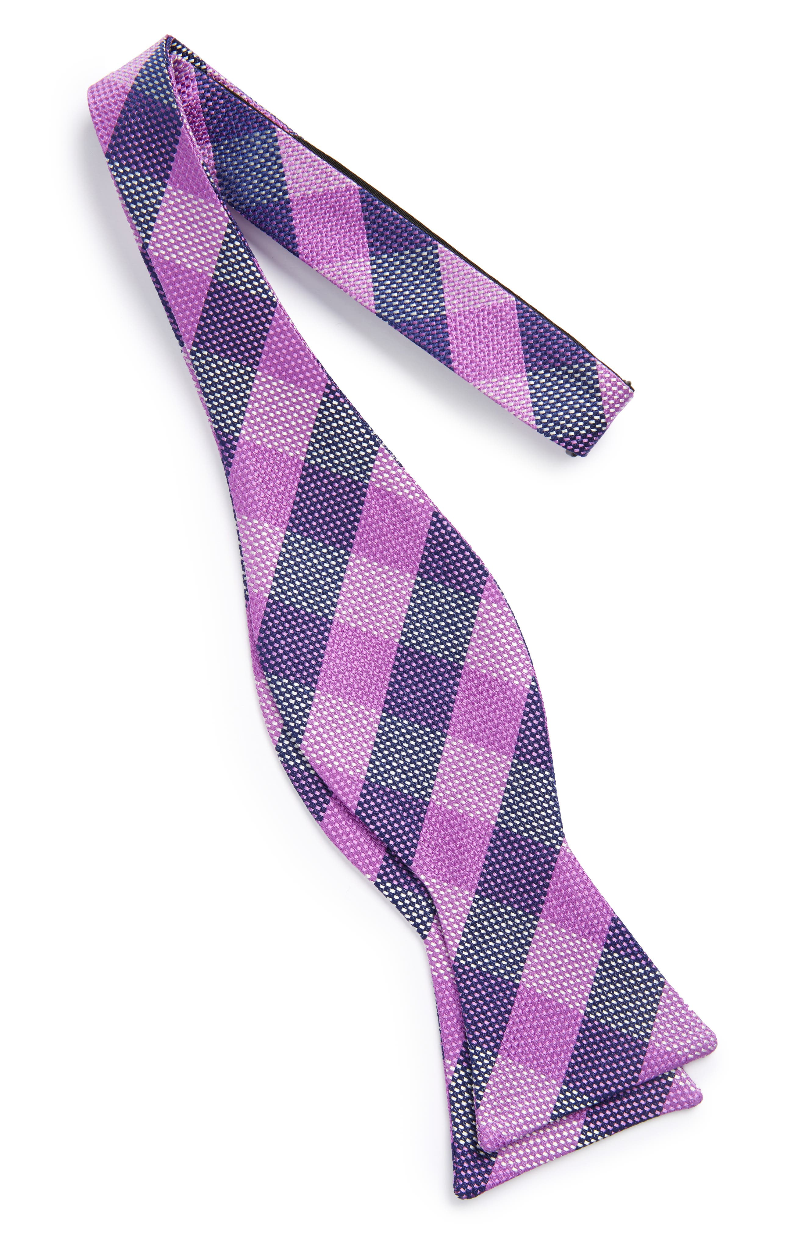 Derby Check Silk Bow Tie,                             Alternate thumbnail 11, color,