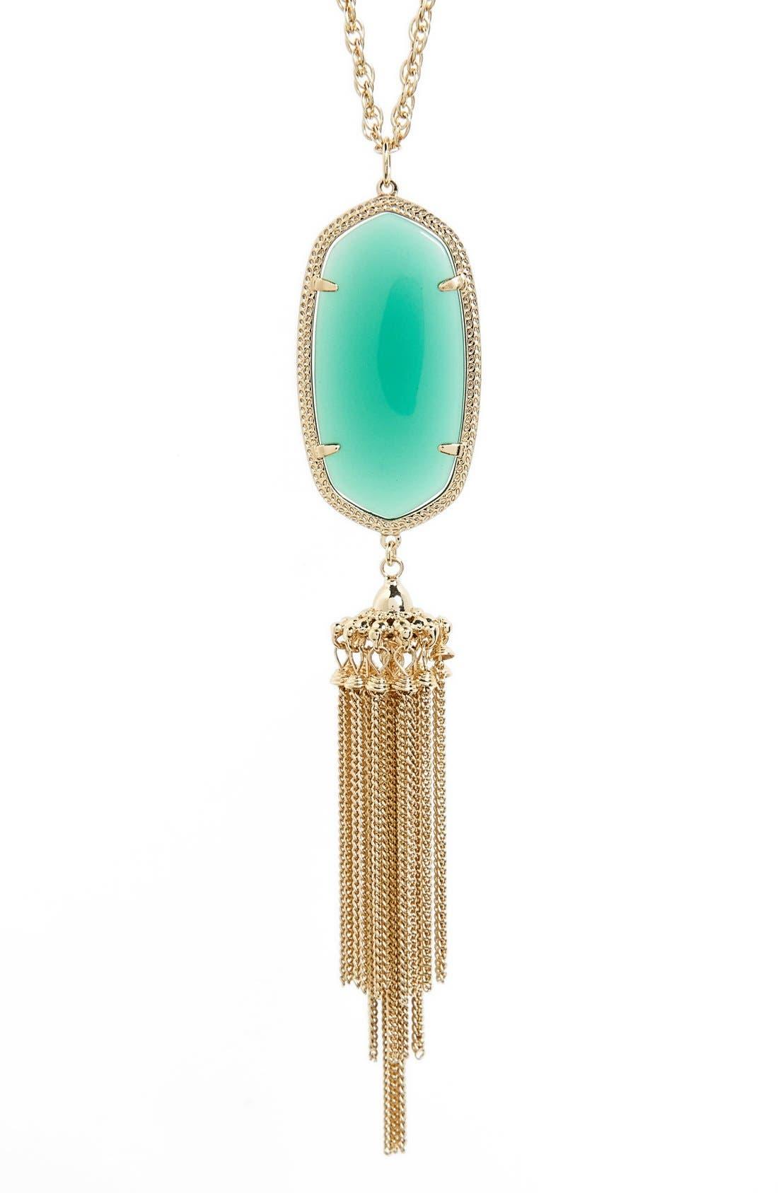 Rayne Stone Tassel Pendant Necklace,                             Alternate thumbnail 193, color,