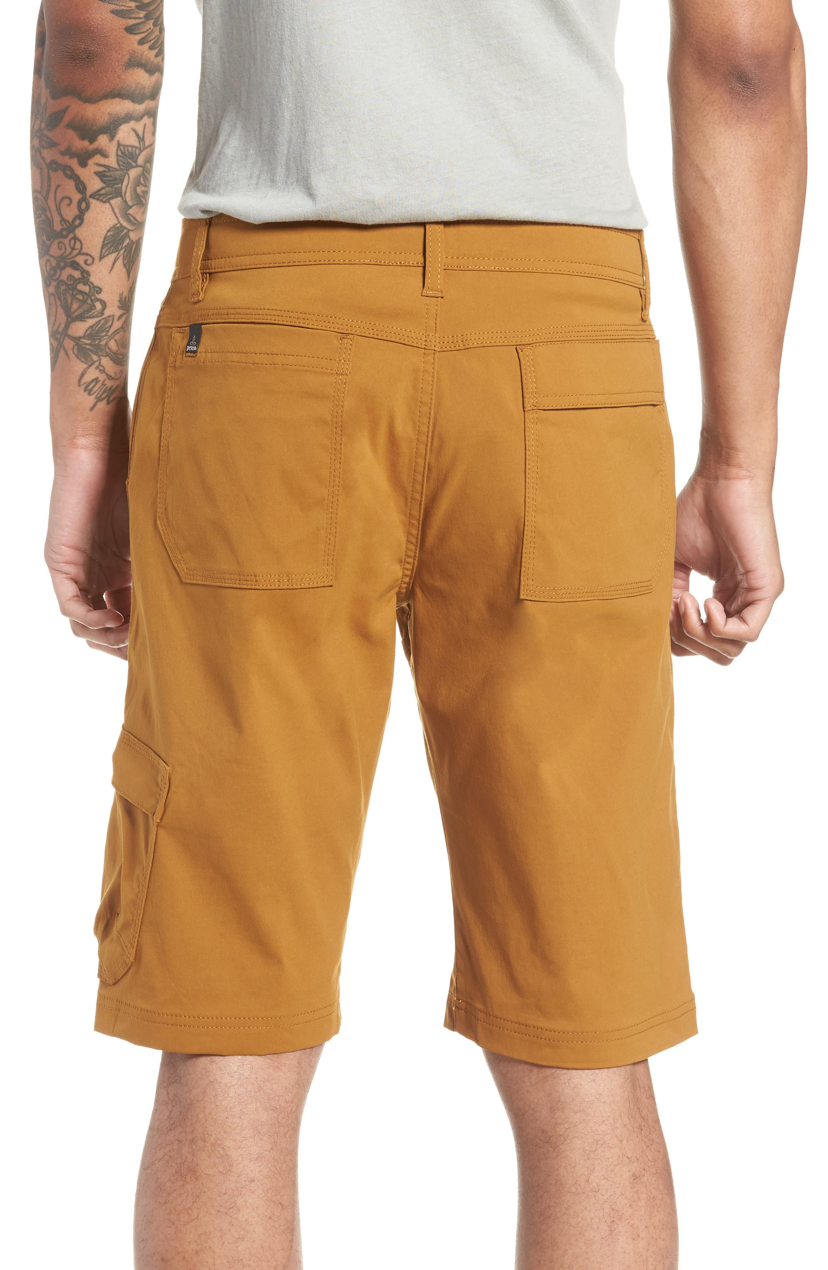 PRANA,                             Zion Stretch Shorts,                             Alternate thumbnail 2, color,                             BRONZED