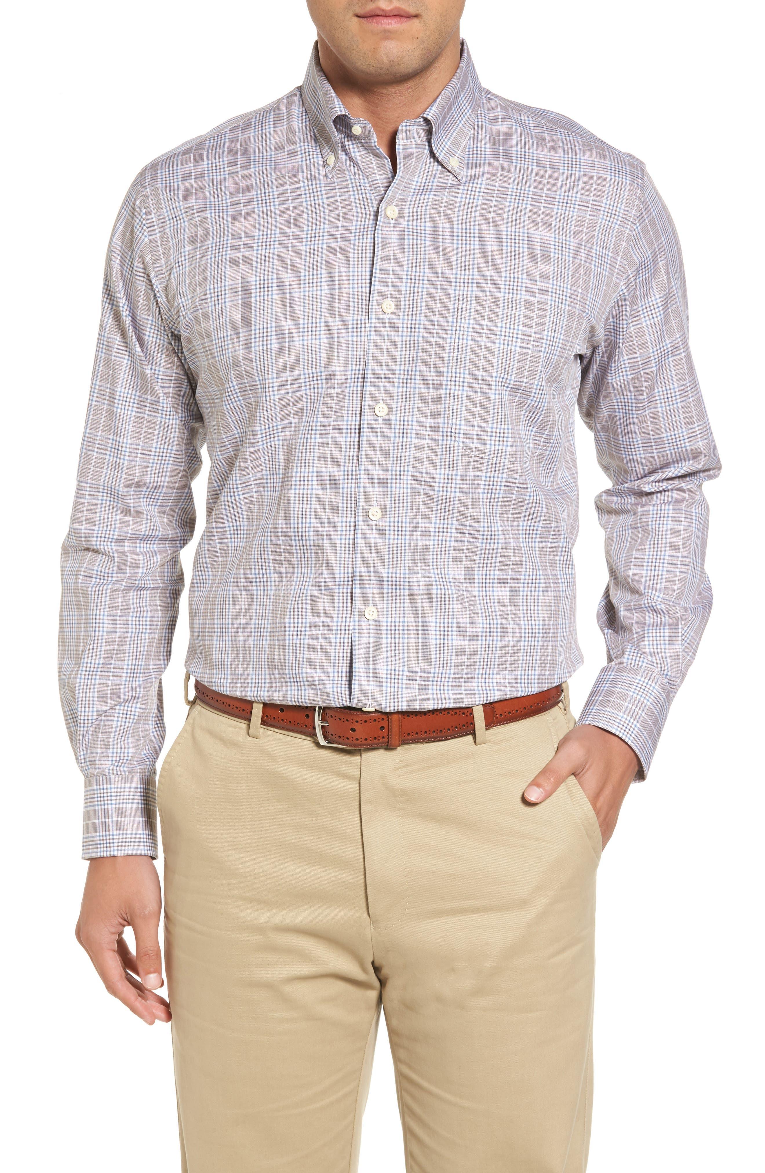 River Glen Plaid Regular Fit Sport Shirt,                         Main,                         color, 230