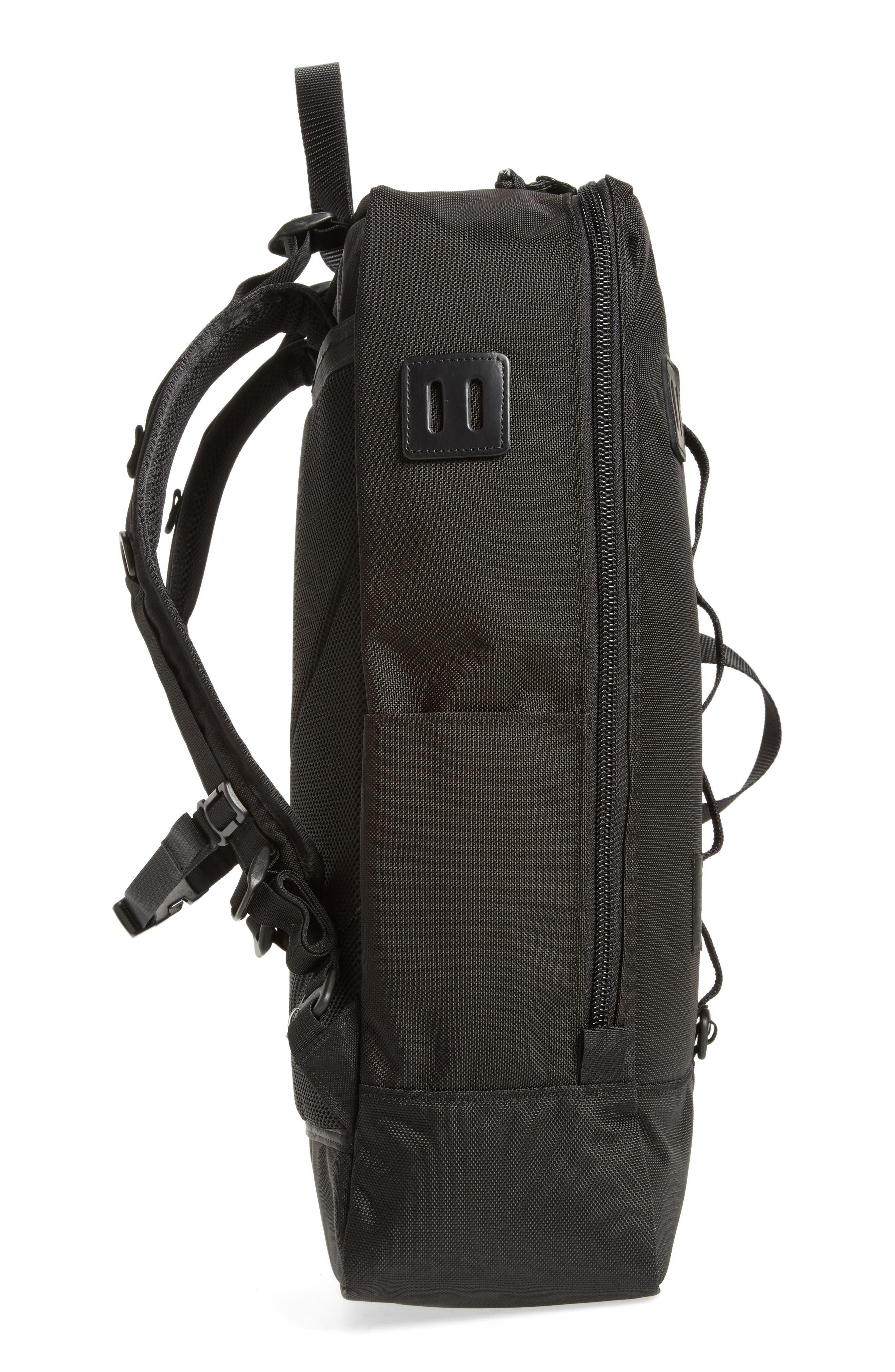 Travel Backpack,                             Alternate thumbnail 5, color,                             BALLISTIC BLACK