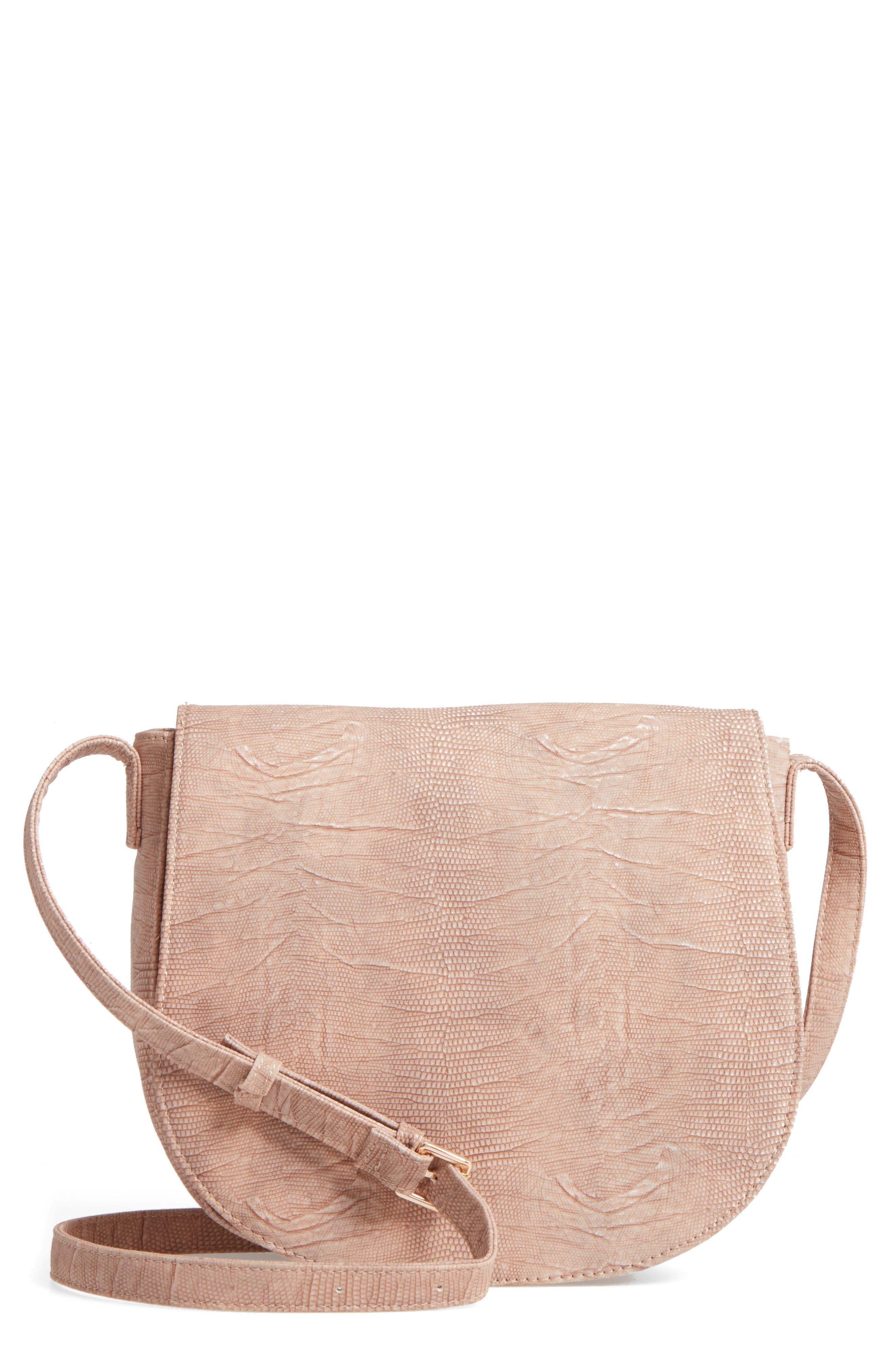 Livvy Faux Leather Crossbody Saddle Bag,                             Main thumbnail 2, color,