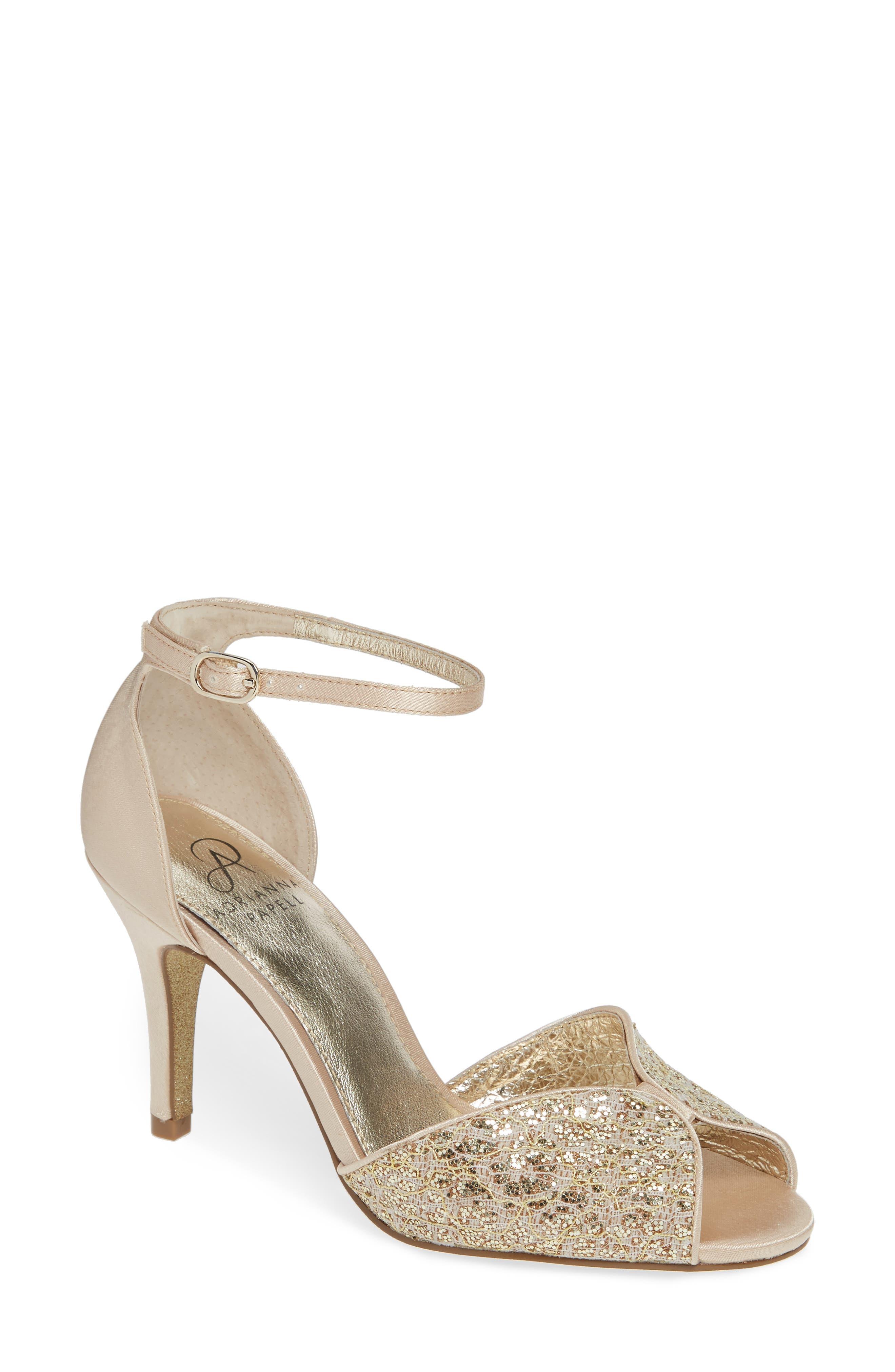 Adrianna Papell Fifi Ankle Strap Sandal- Metallic