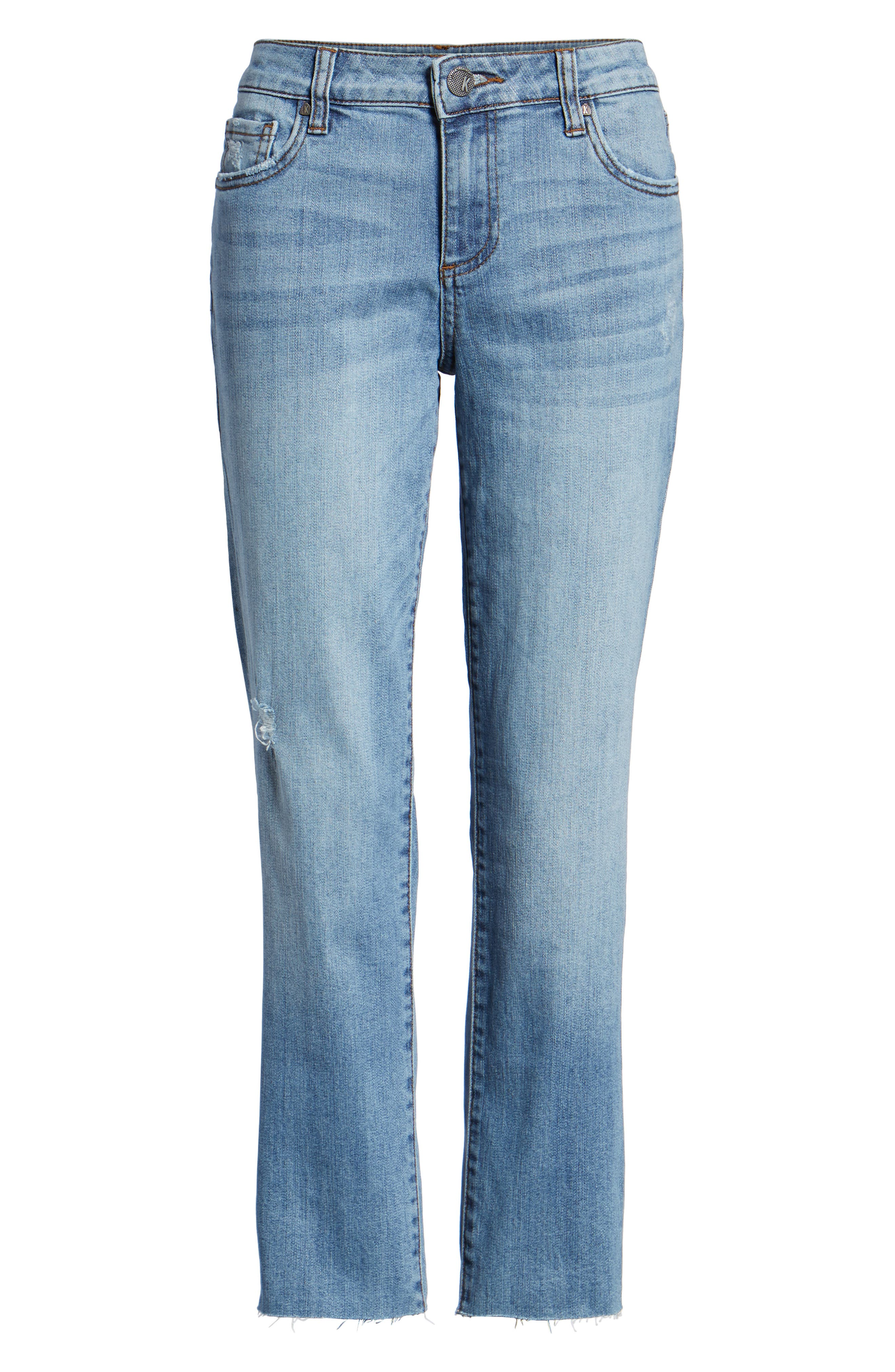 Reese Straight Leg Ankle Jeans,                             Alternate thumbnail 6, color,                             EQUILIBRIUM