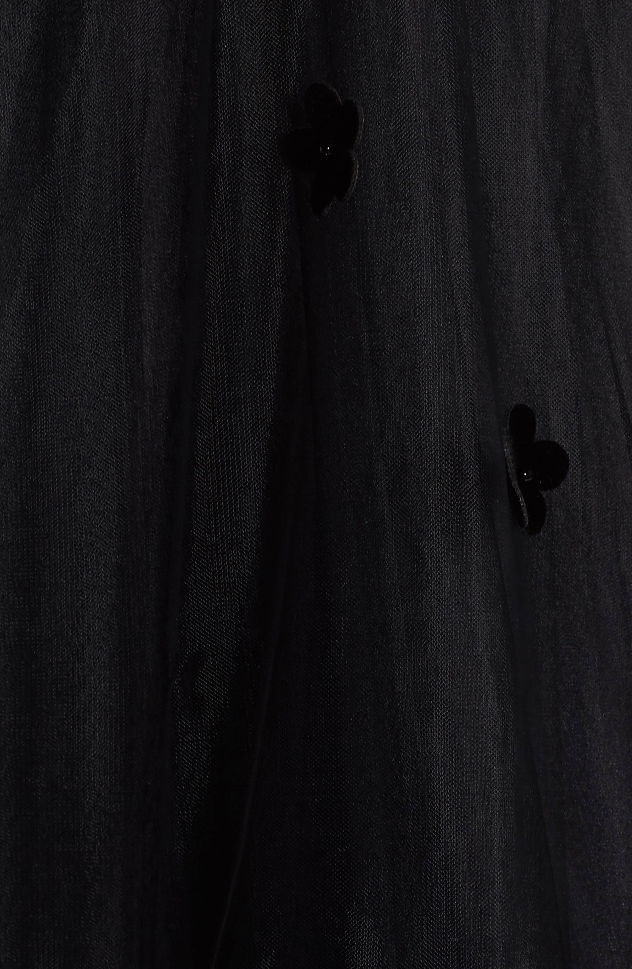 Velvet Trim Strapless Ballgown,                             Alternate thumbnail 5, color,                             BLACK