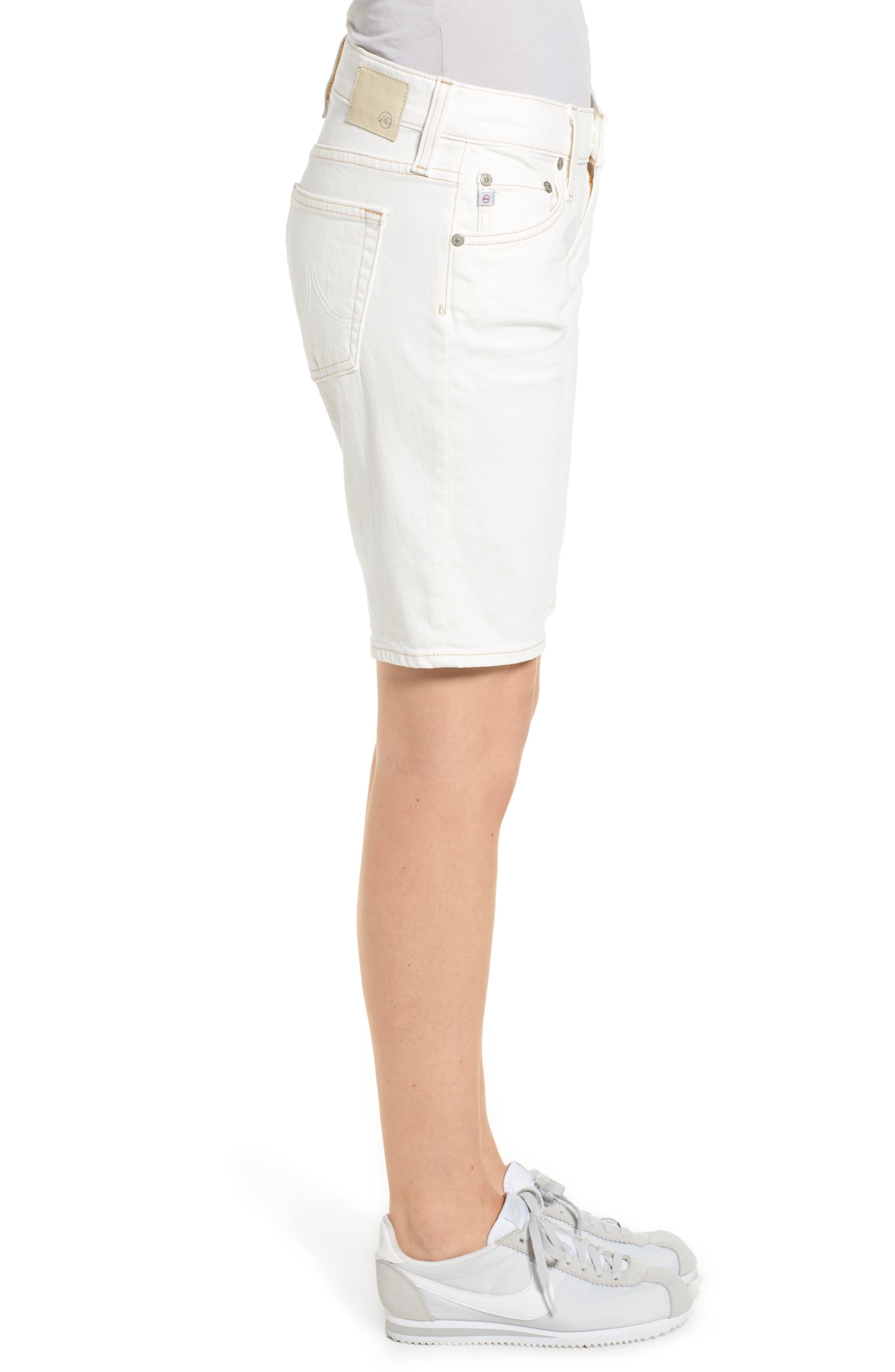 Nikki Denim Bermuda Shorts,                             Alternate thumbnail 3, color,                             109