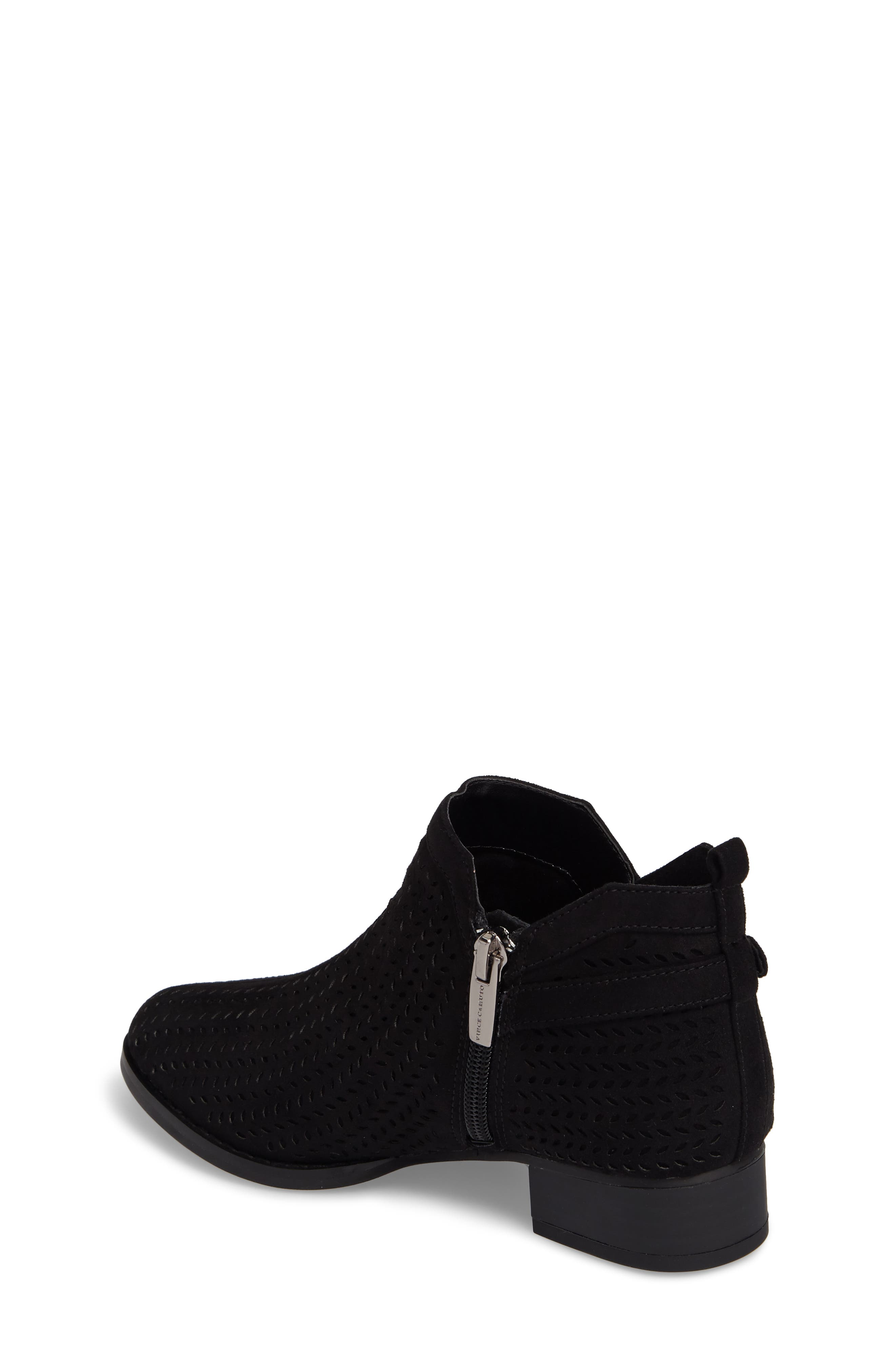 Campina Perforated Bootie,                             Alternate thumbnail 2, color,                             BLACK SUEDE