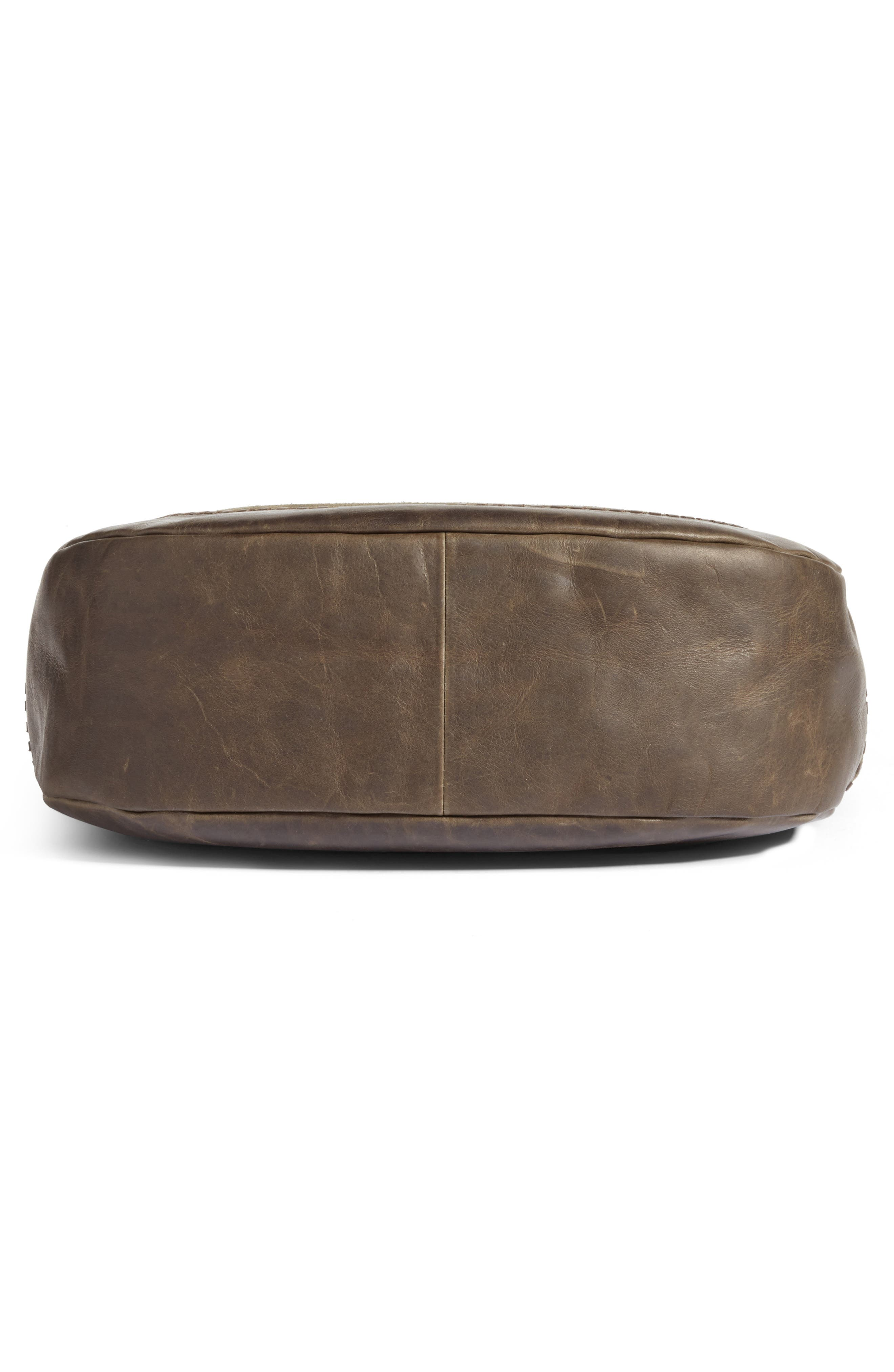 Melissa Suede & Whipstitch Leather Hobo,                             Alternate thumbnail 6, color,