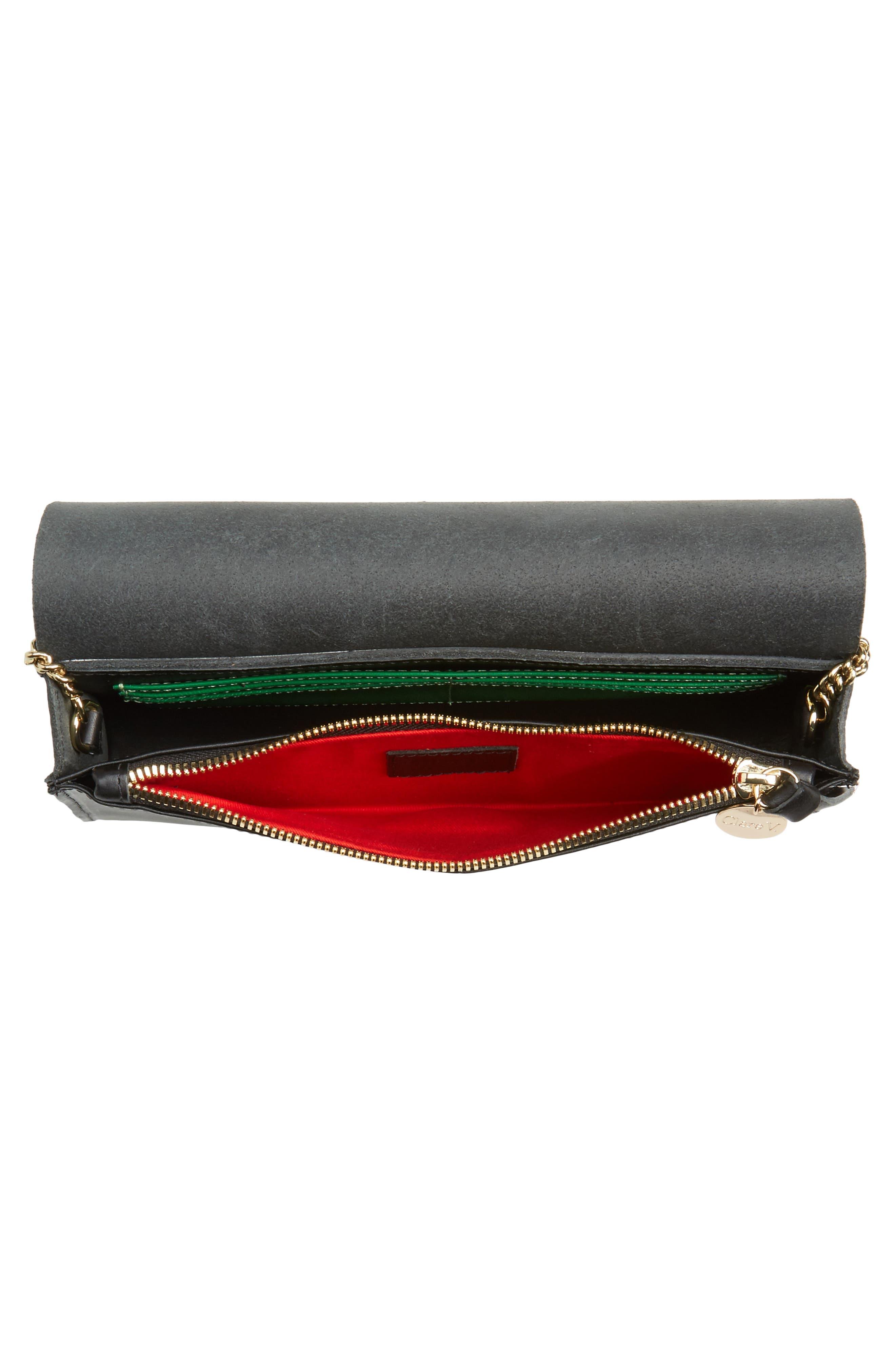 Colette Maison Leather Shoulder Bag,                             Alternate thumbnail 4, color,                             001