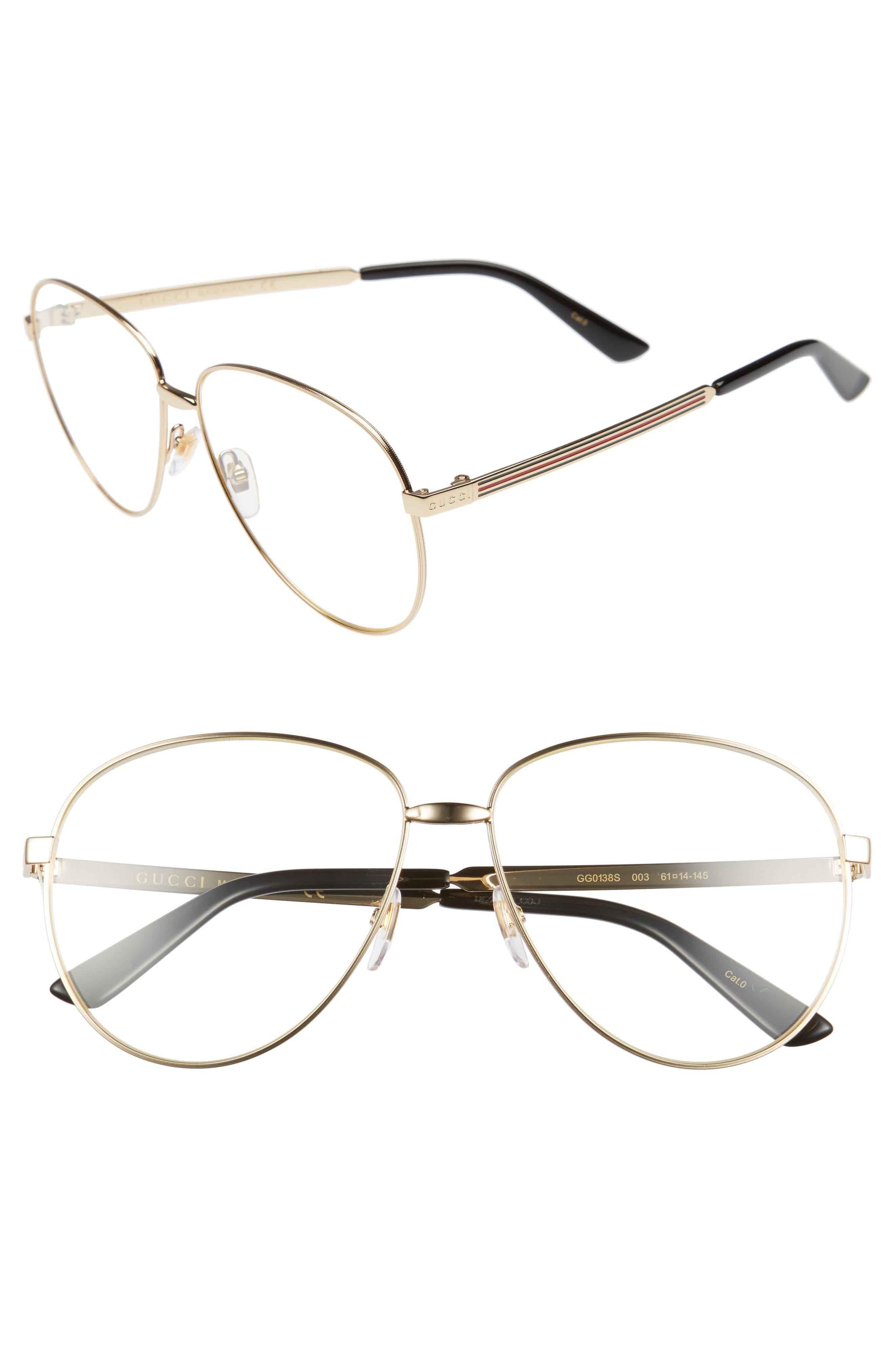 61mm Aviator Sunglasses,                             Main thumbnail 1, color,                             YELLOW ENDURA GOLD