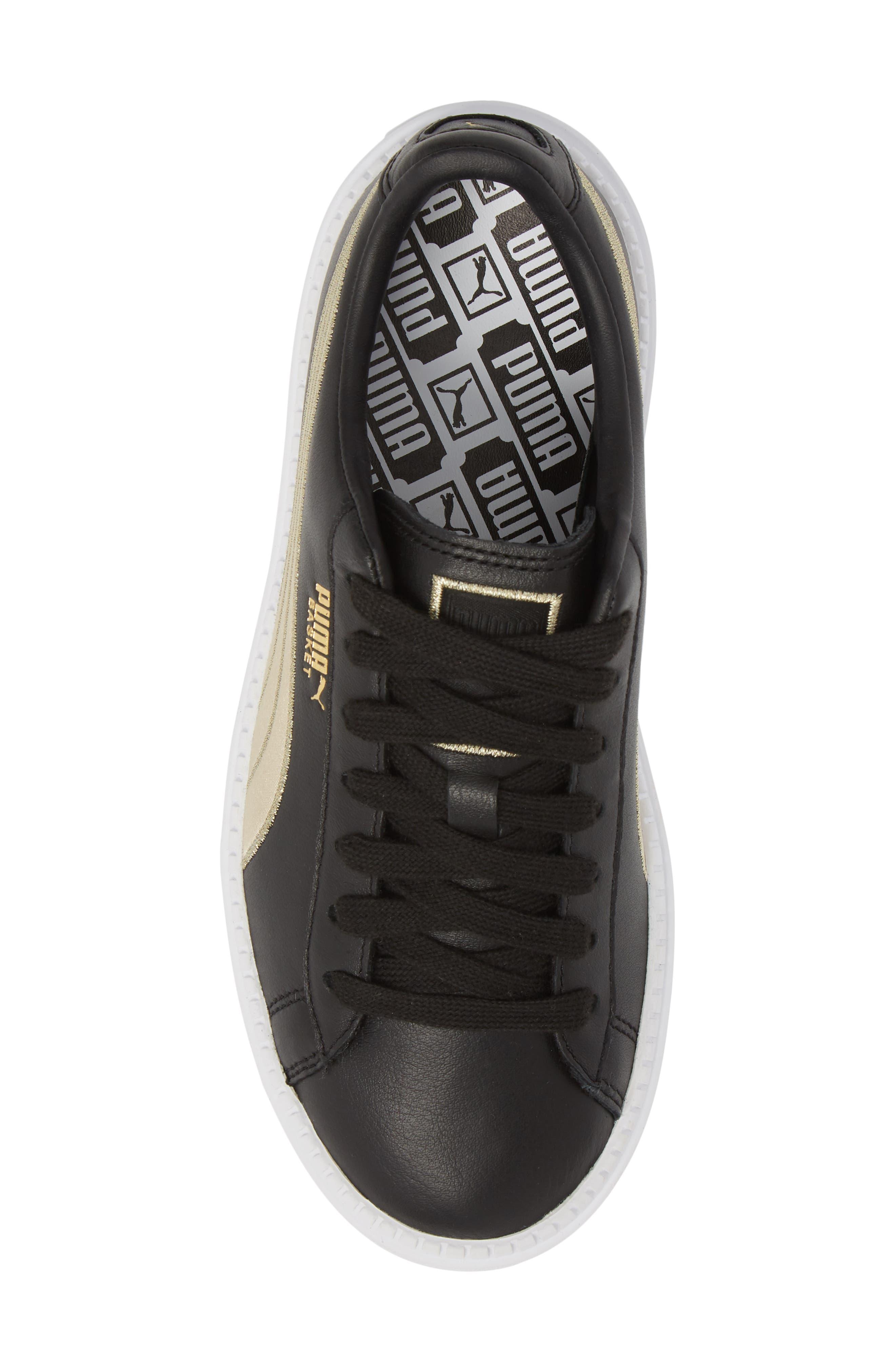 Platform Trace Sneaker,                             Alternate thumbnail 5, color,                             001