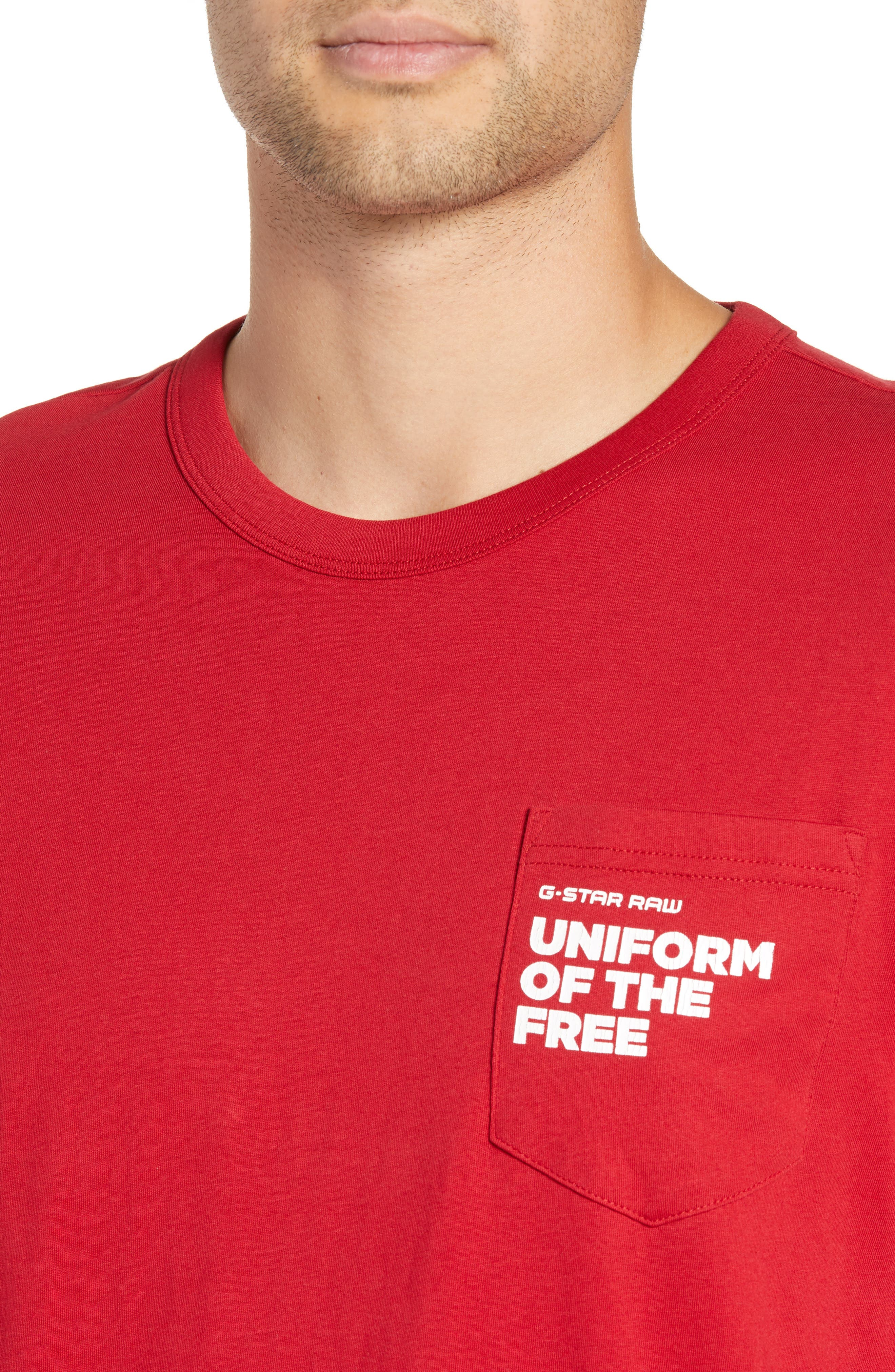 UOTF Pocket T-Shirt,                             Alternate thumbnail 4, color,                             CHILI RED