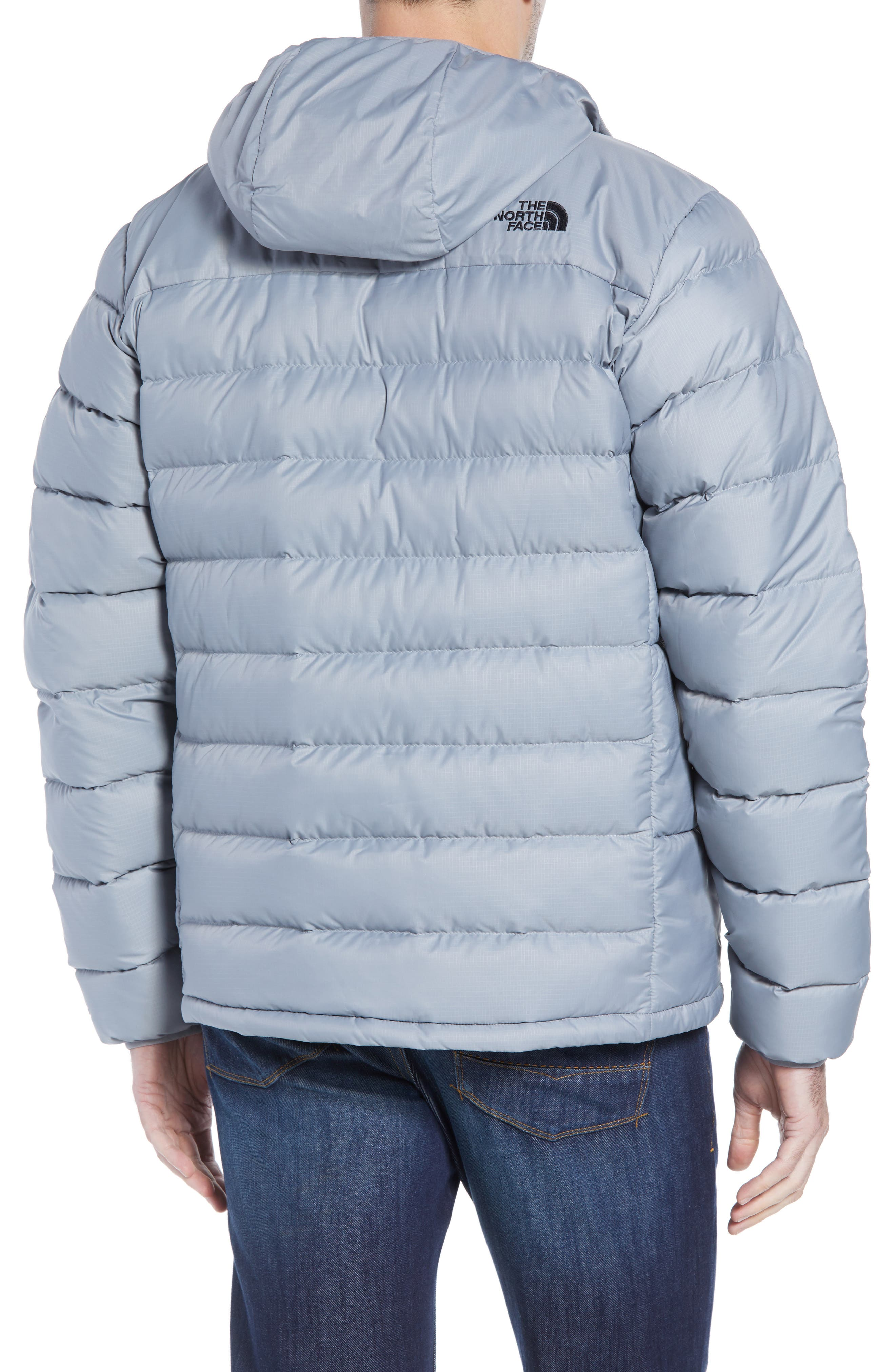 Aconcagua Down Hooded Jacket,                             Alternate thumbnail 2, color,                             MID GREY