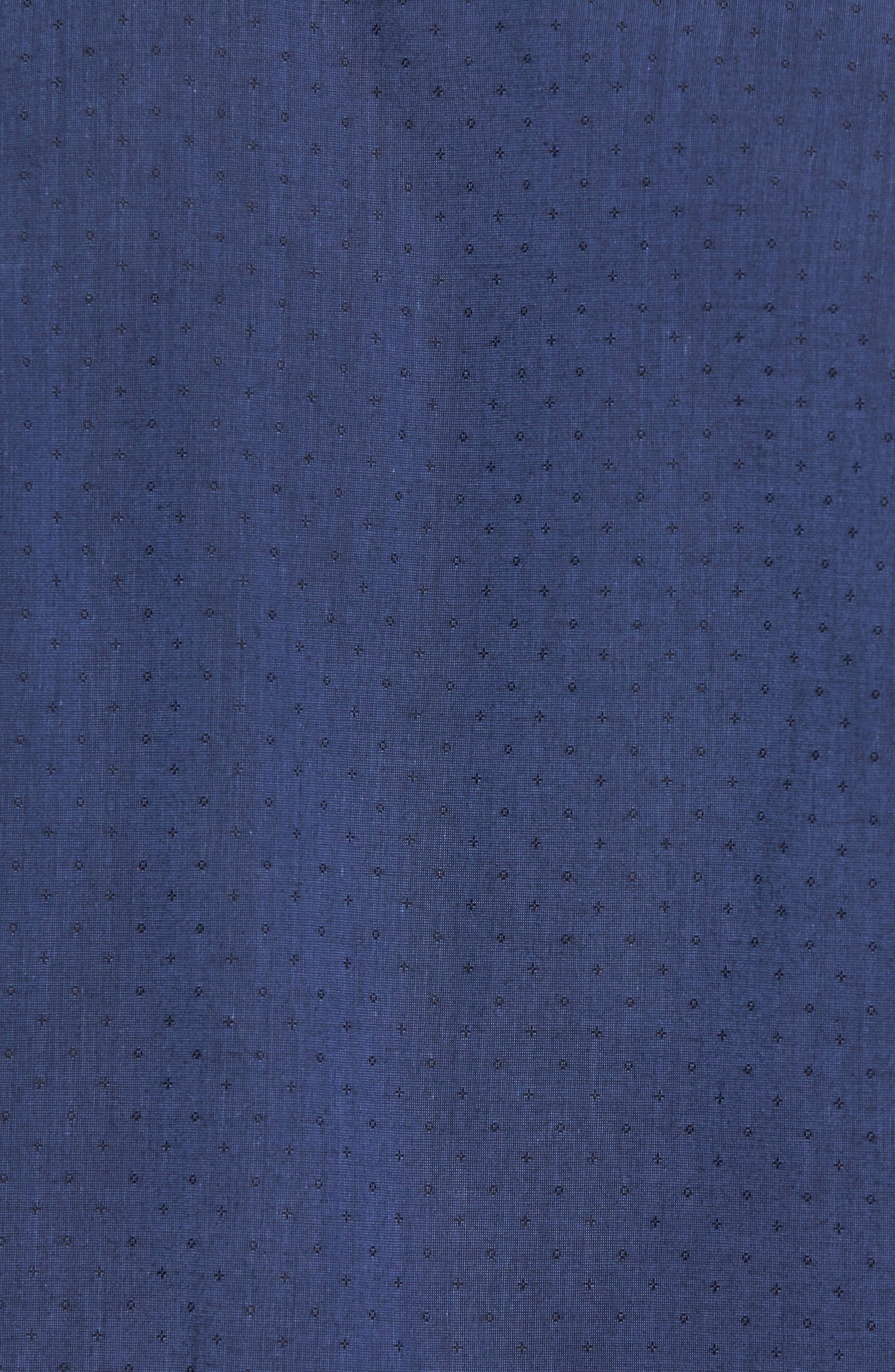 Colly Slim Fit Print Sport Shirt,                             Alternate thumbnail 5, color,