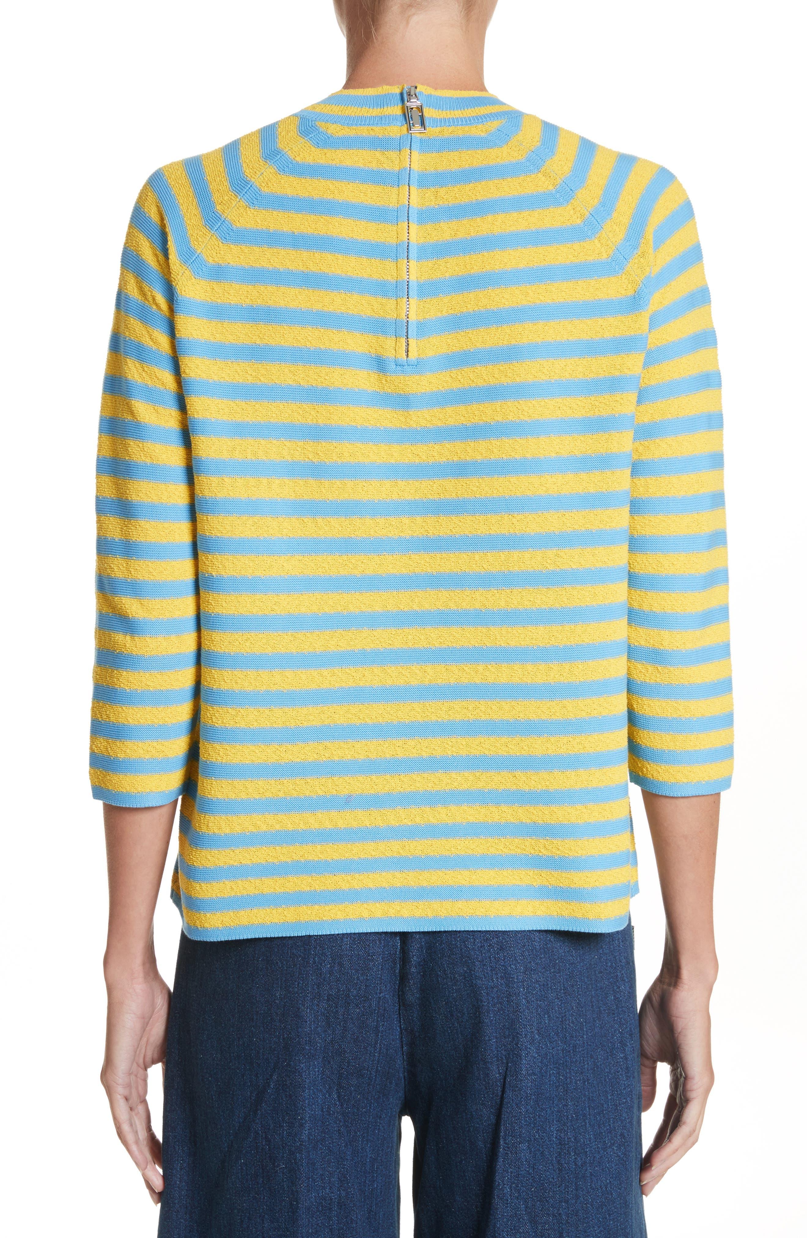 Stripe Mock Neck Sweater,                             Alternate thumbnail 4, color,