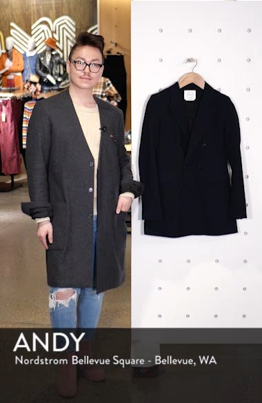 Double Breasted Crepe Blazer, sales video thumbnail