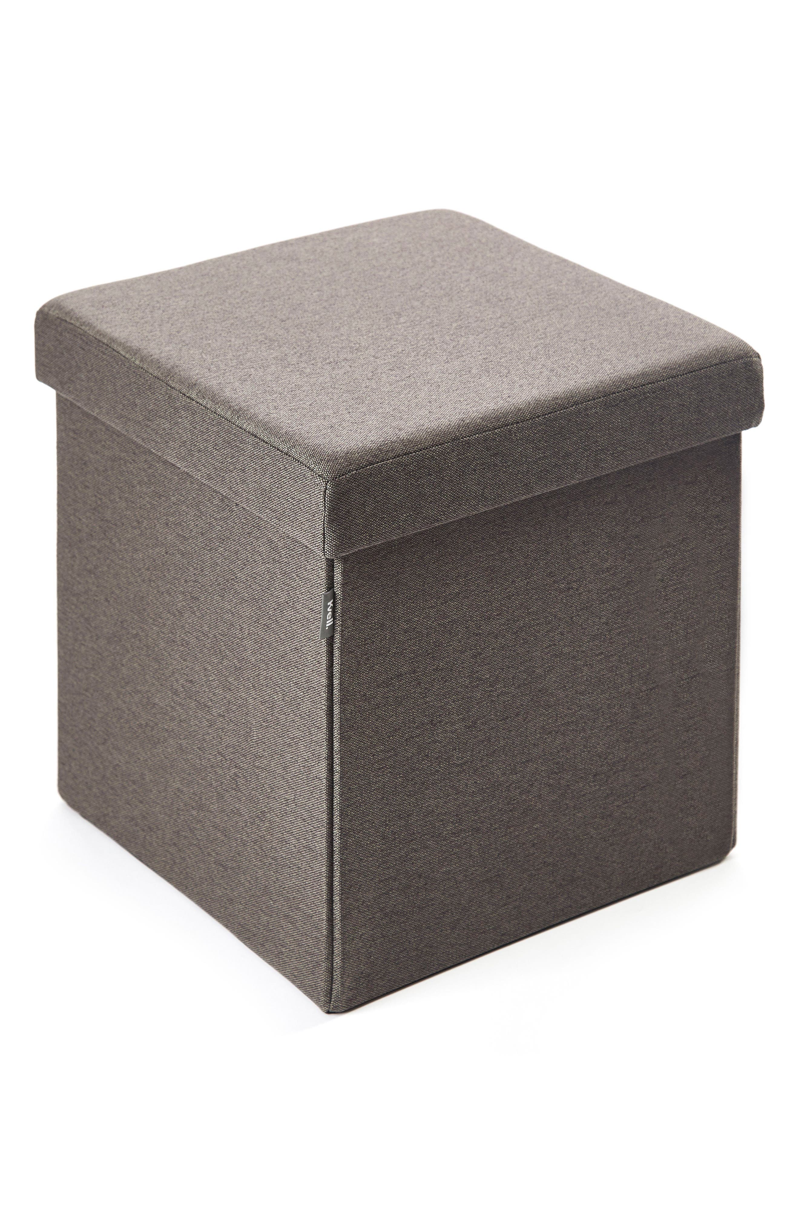 Kube Collapsible Storage Ottoman,                             Main thumbnail 1, color,                             MODEST GREY