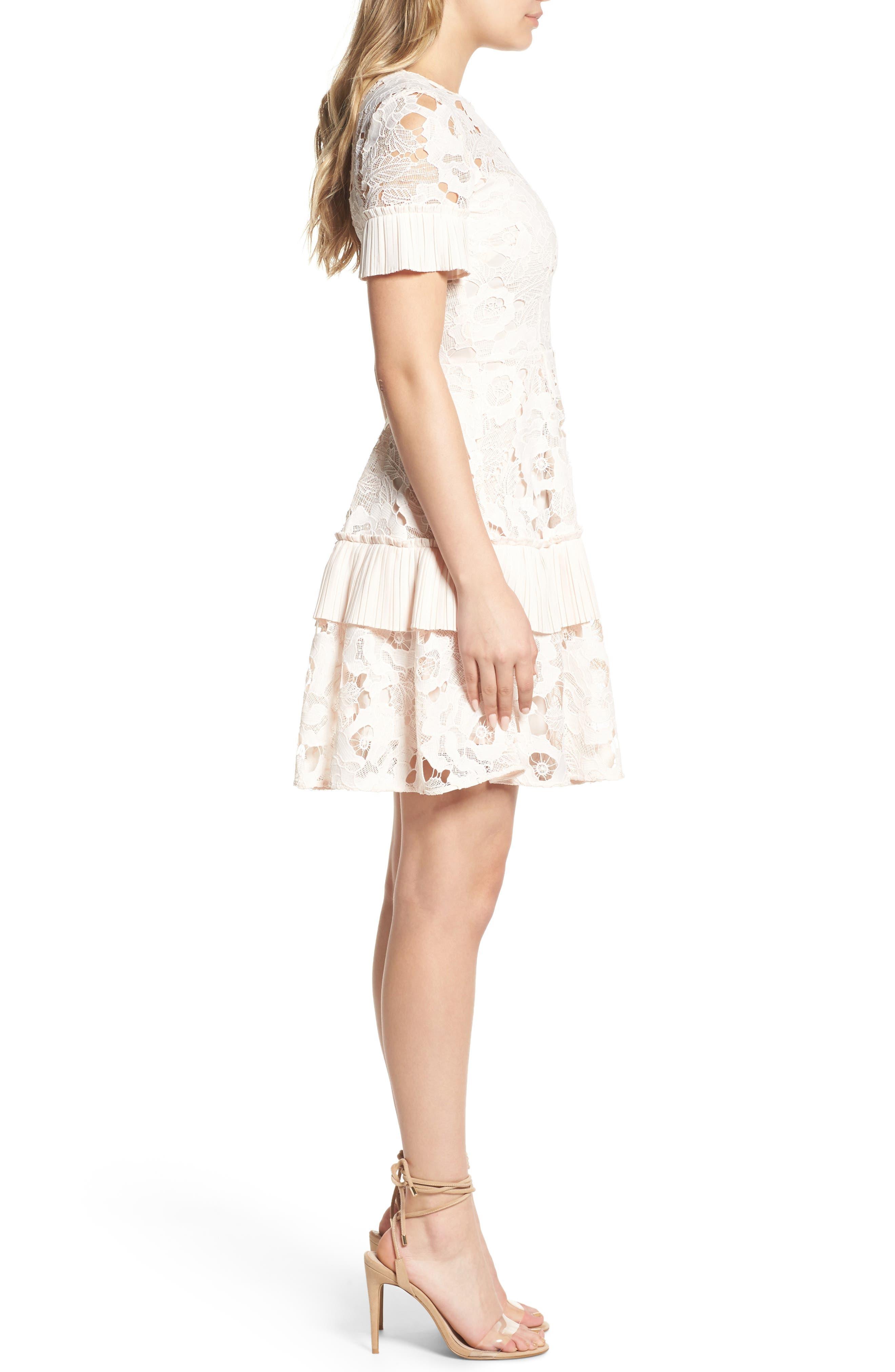 Enchantment Lace Fit & Flare Dress,                             Alternate thumbnail 3, color,                             650