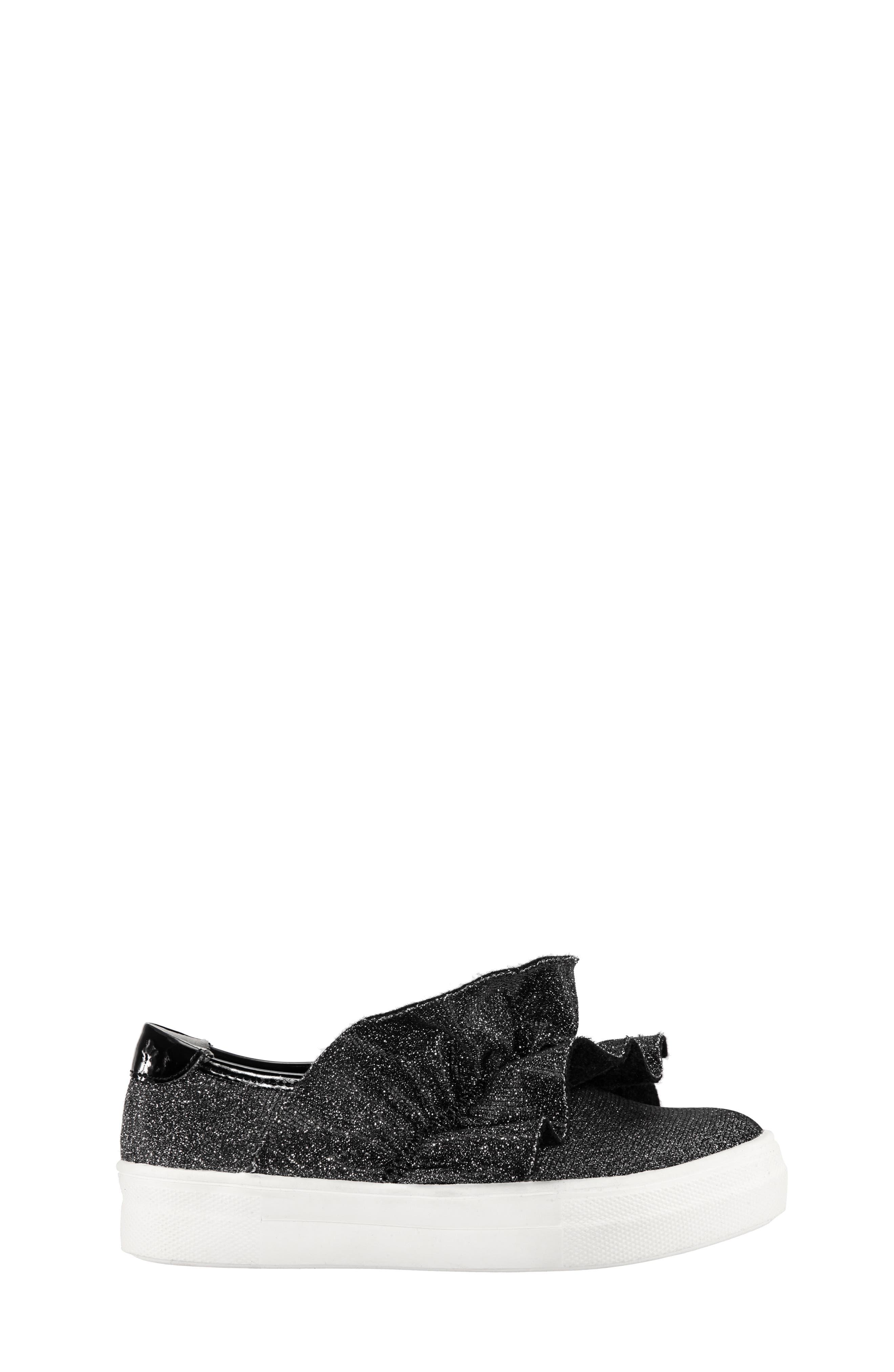 Ivani Slip-On Sneaker,                             Alternate thumbnail 3, color,                             BLACK SPARKLE FABRIC