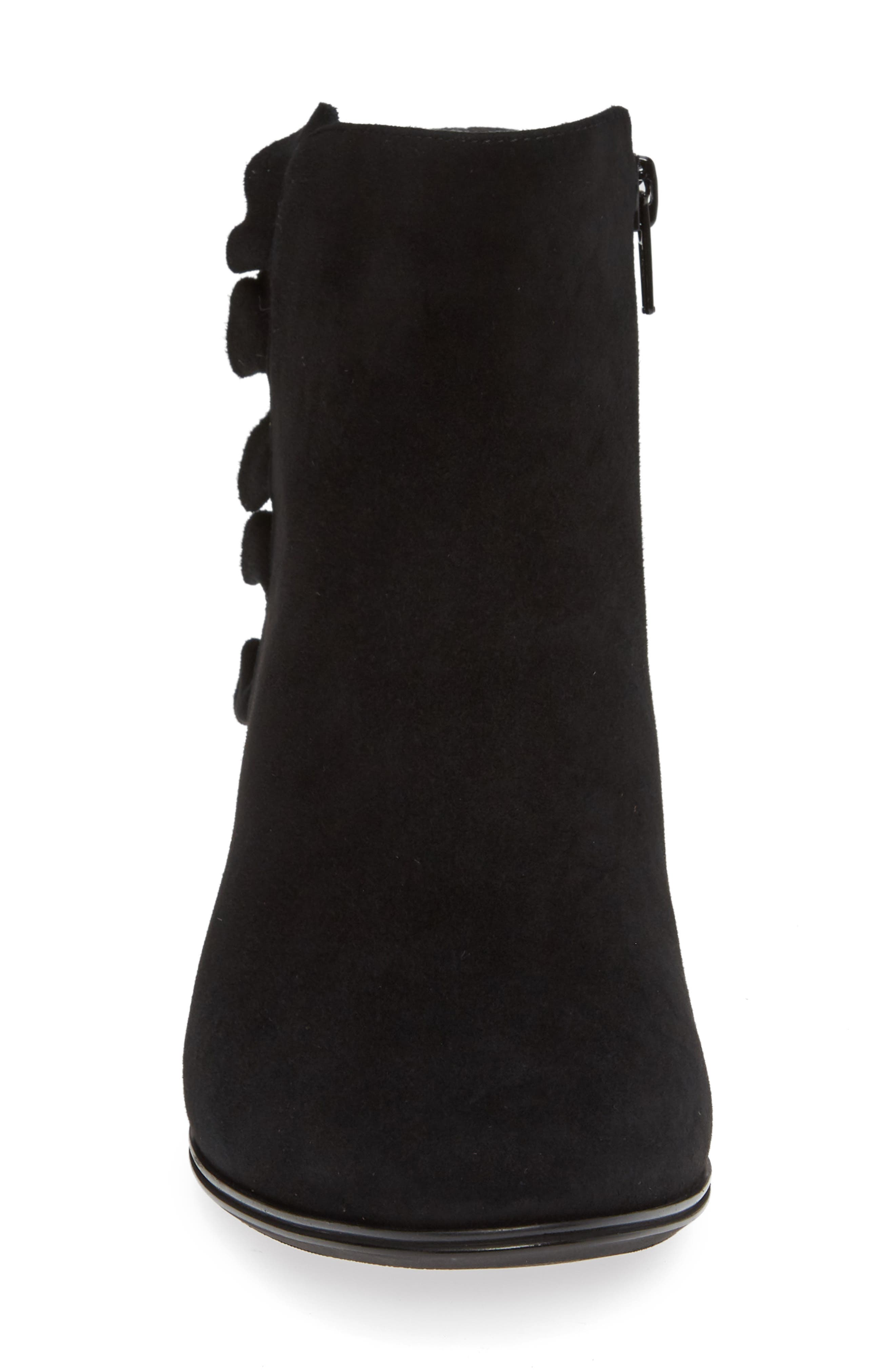 Amoke Bootie,                             Alternate thumbnail 4, color,                             BLACK SUEDE