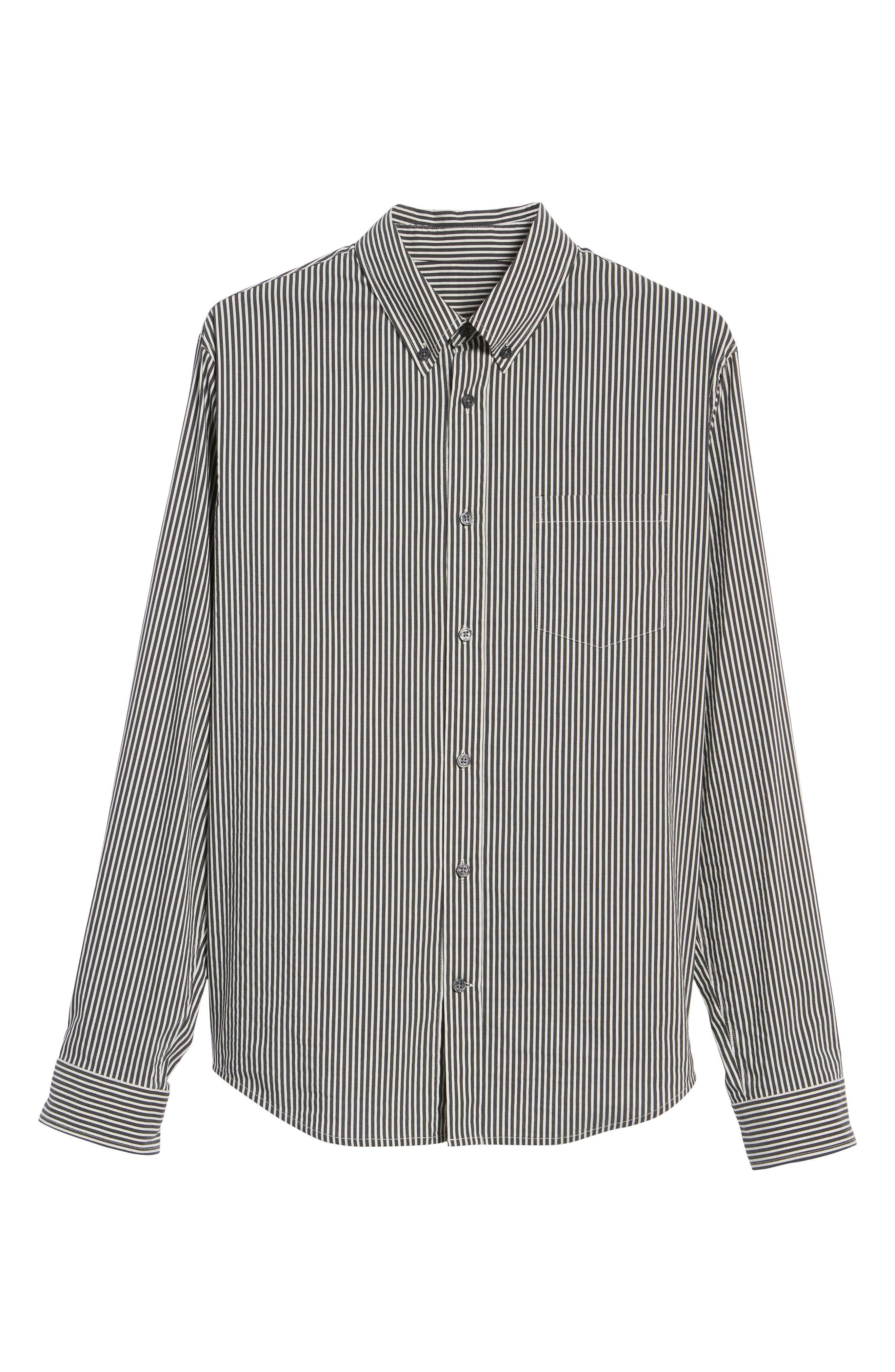 Bar Stripe Sport Shirt,                             Alternate thumbnail 6, color,
