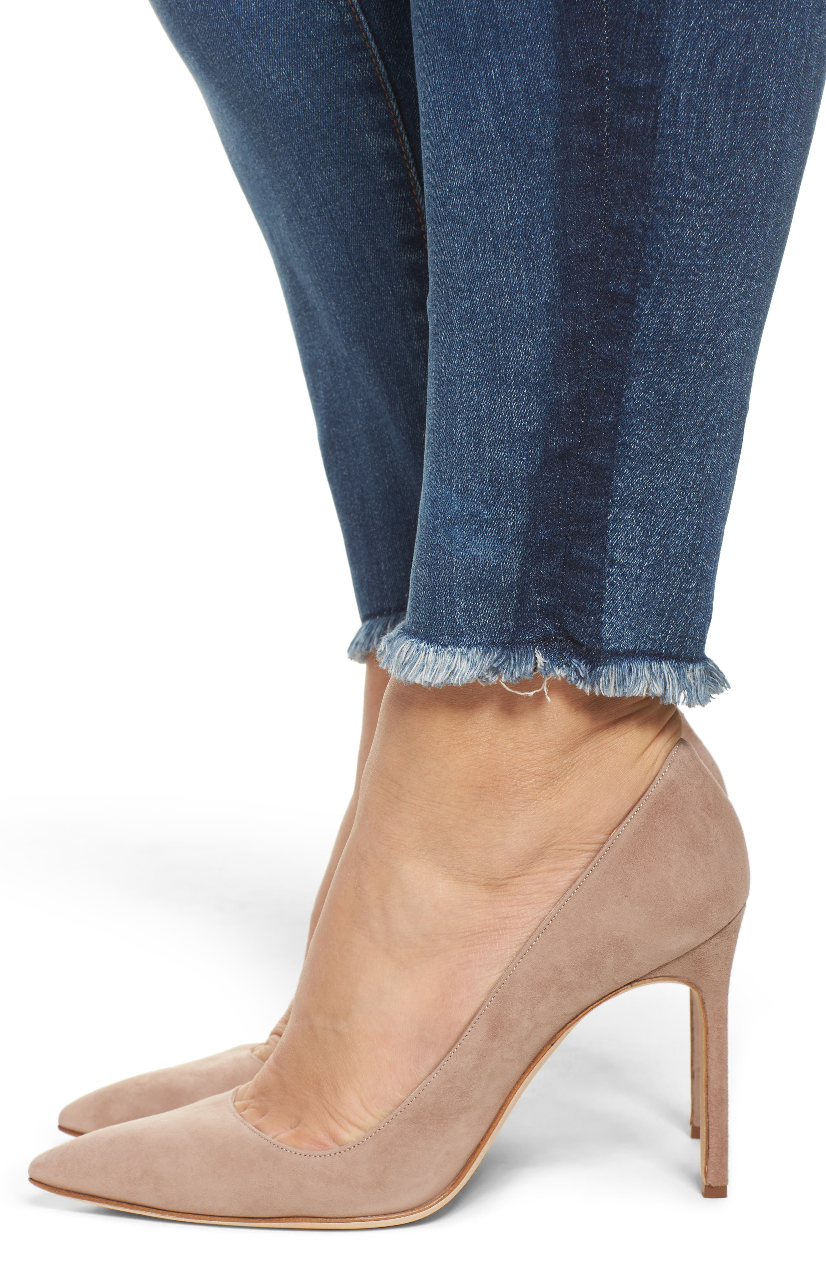Connie Frayed Skinny Ankle Jeans,                             Alternate thumbnail 4, color,