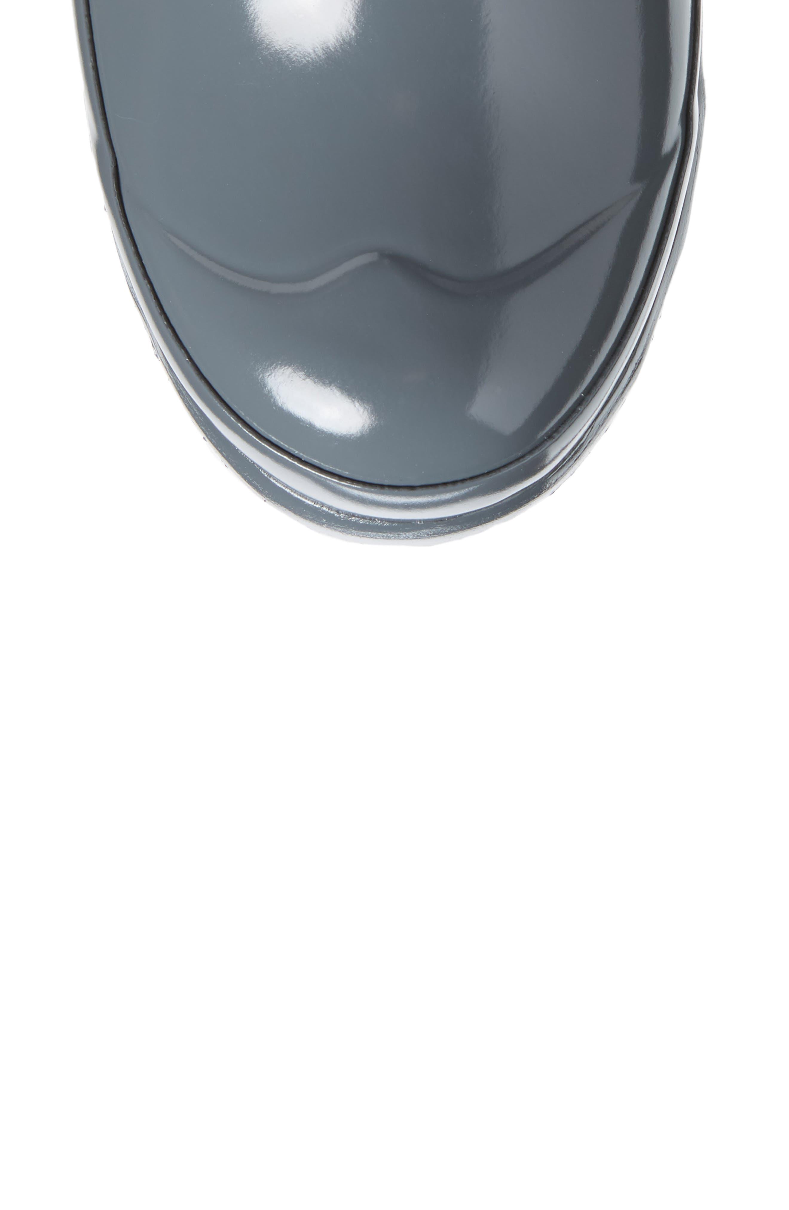 Original High Gloss Waterproof Boot,                             Alternate thumbnail 5, color,                             FEATHER