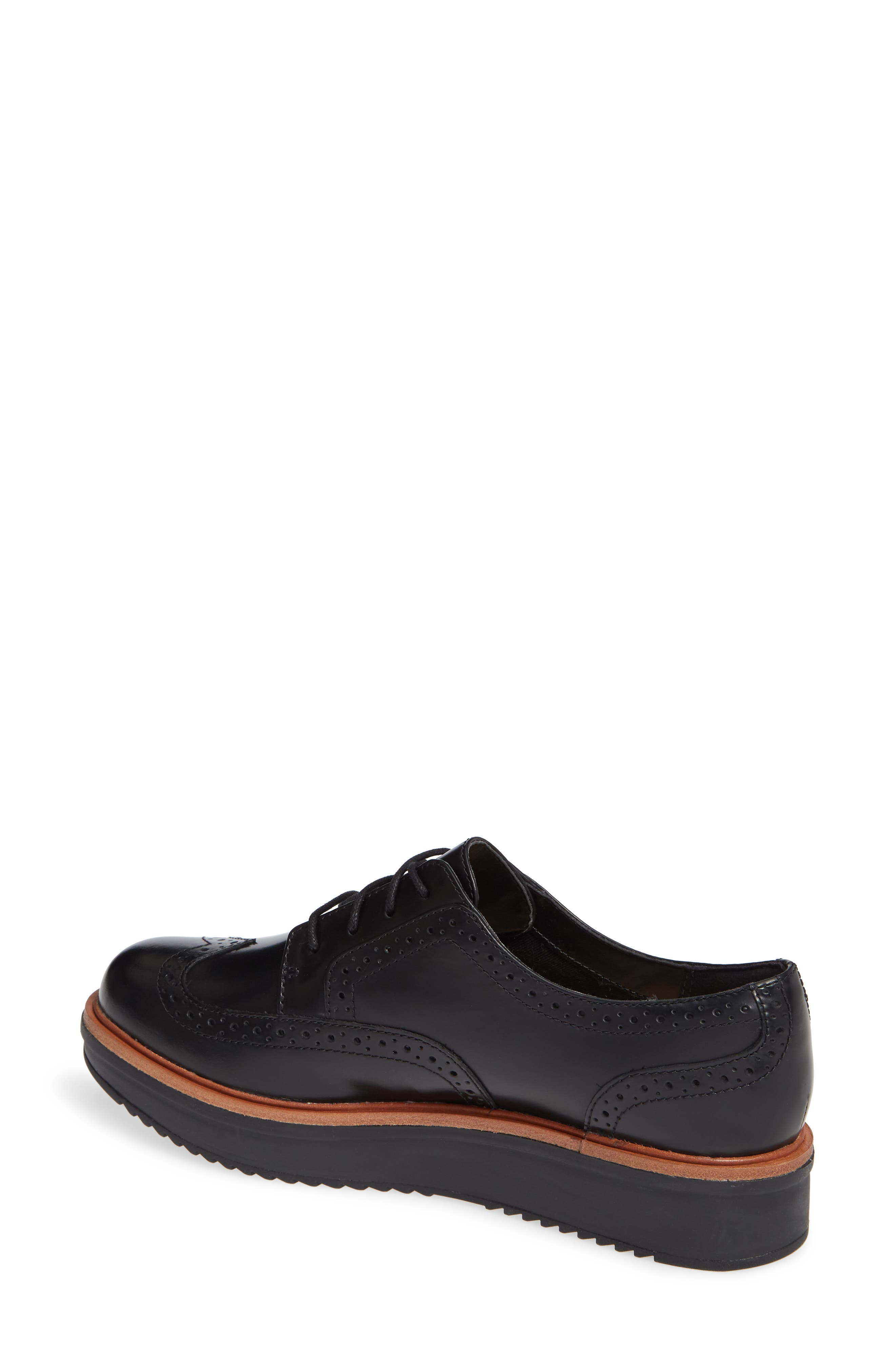Teadale Maira Wingtip Derby,                             Alternate thumbnail 2, color,                             BLACK LEATHER
