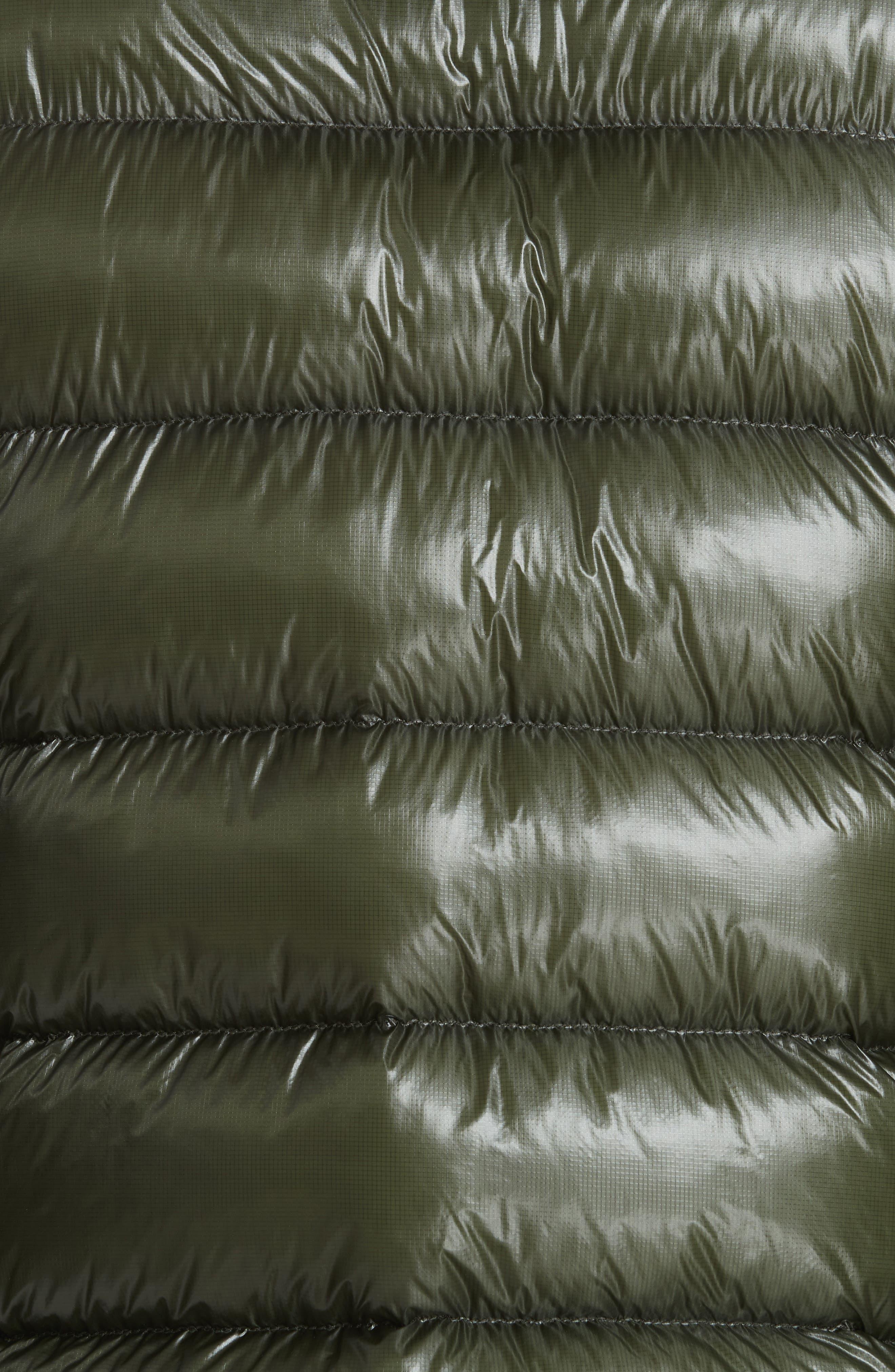 Lightweight Reversible Down Jacket,                             Alternate thumbnail 7, color,                             GREEN