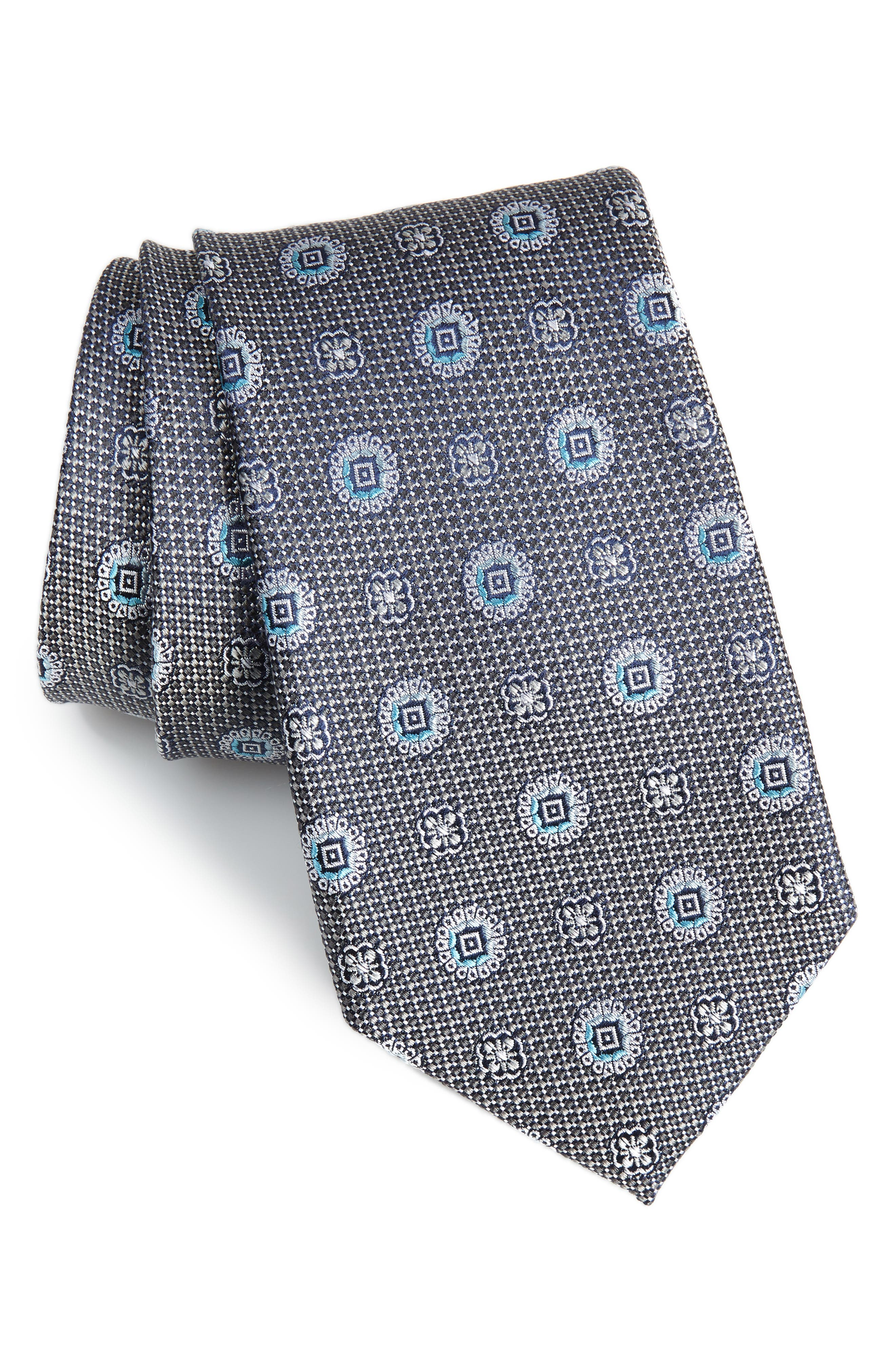 Rurwin Medallion Tie,                             Main thumbnail 1, color,                             020