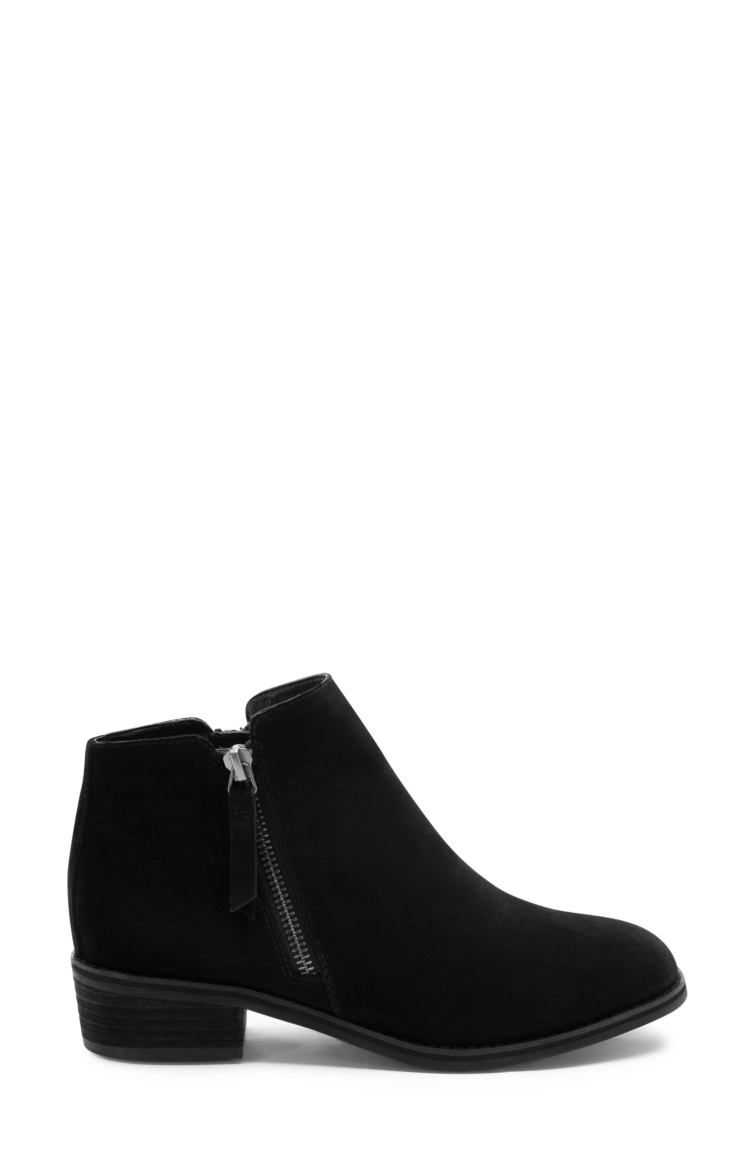 Linda Waterproof Bootie,                             Alternate thumbnail 3, color,                             BLACK SUEDE