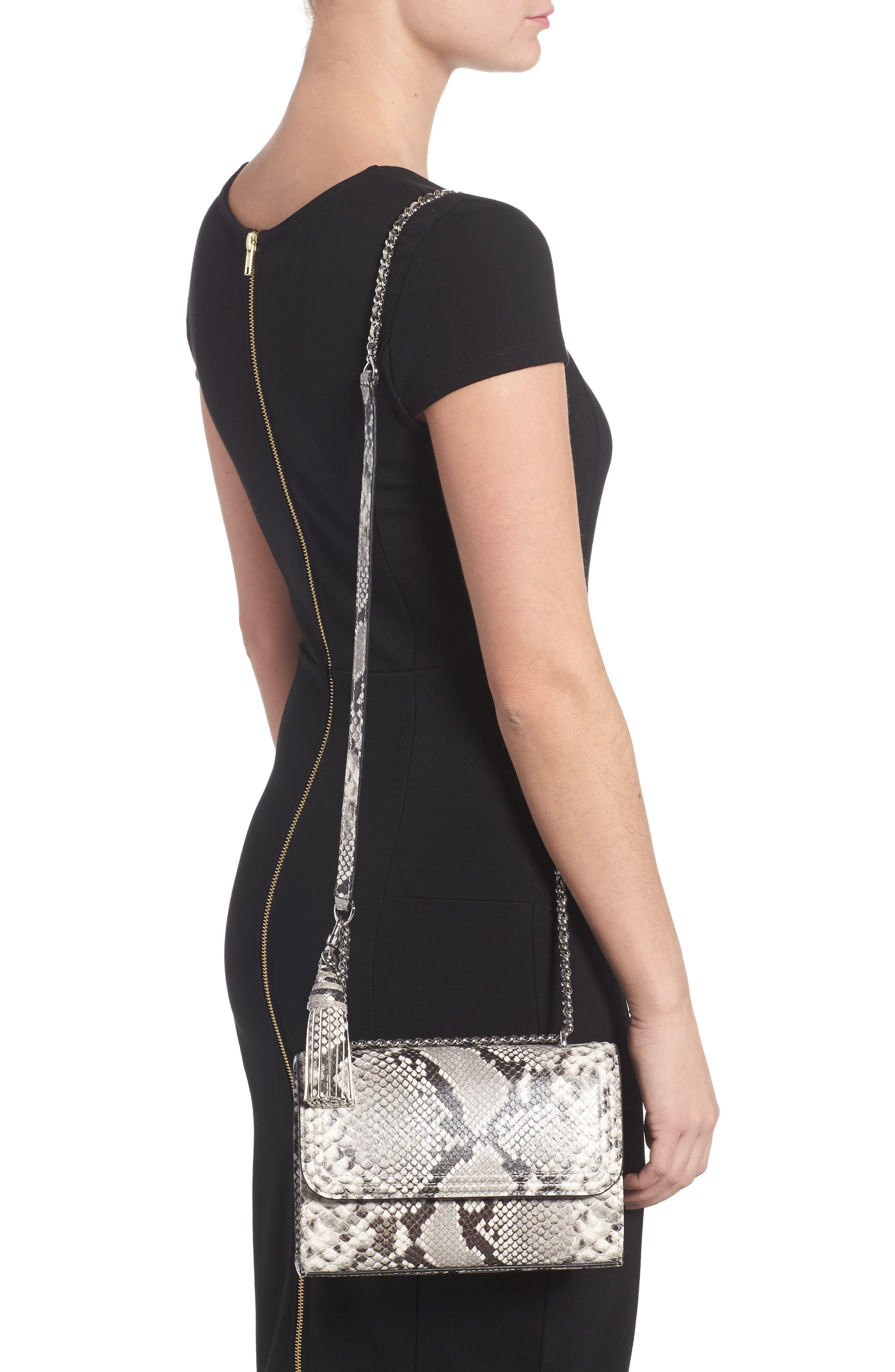 Small Fleming Leather Convertible Shoulder Bag,                             Alternate thumbnail 2, color,                             001