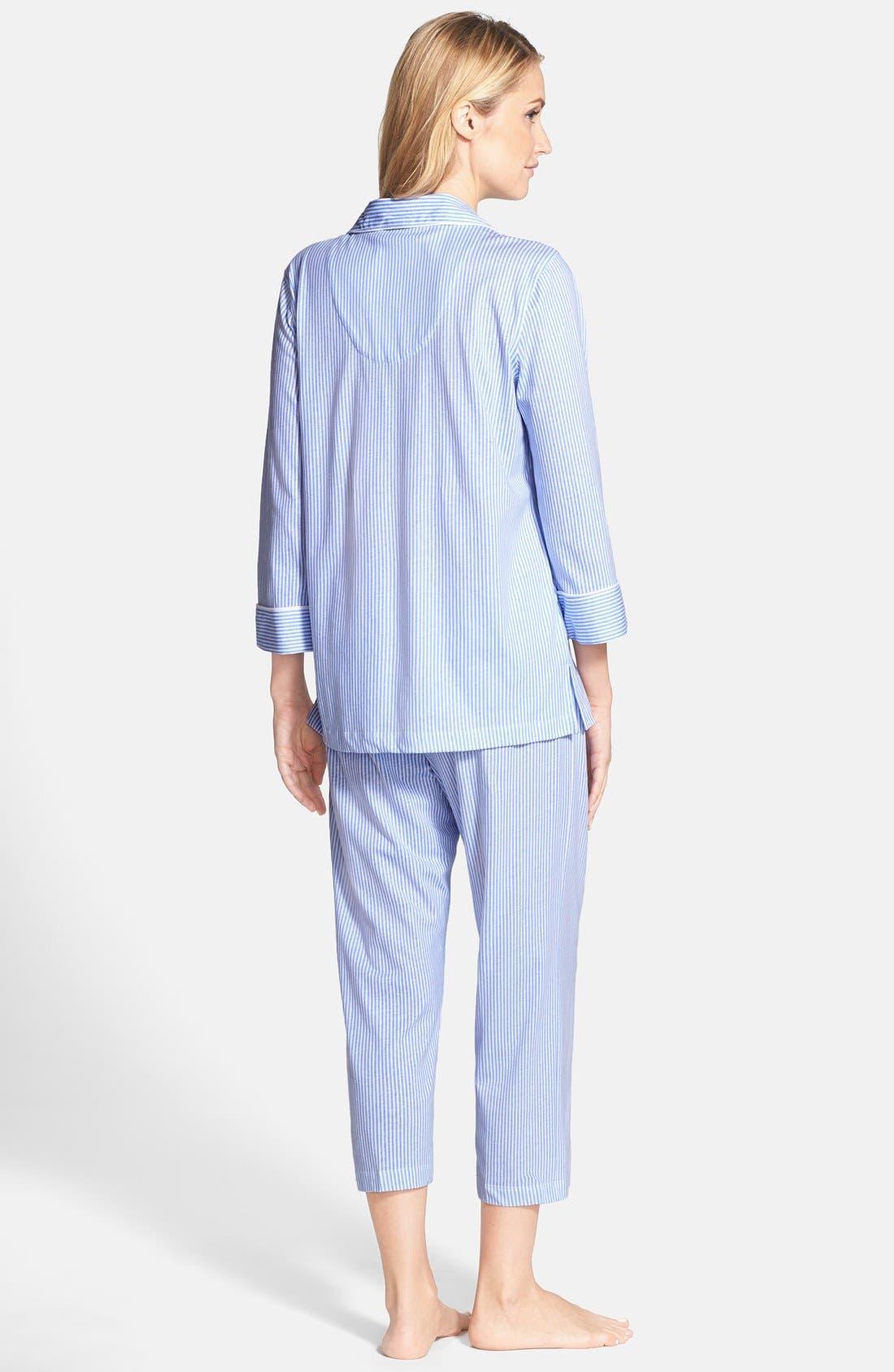 Knit Crop Pajamas,                             Alternate thumbnail 43, color,