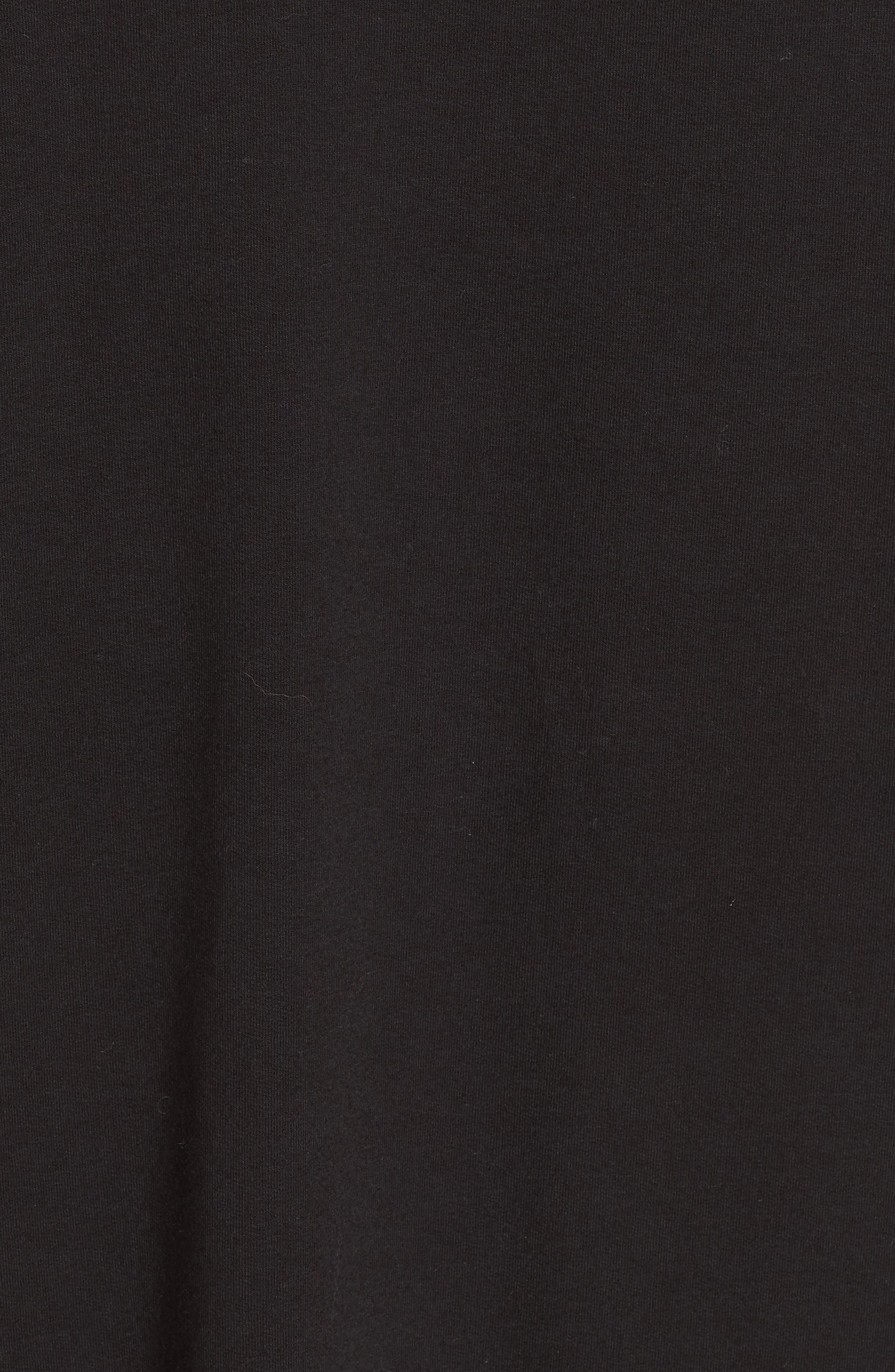 Asymmetric Sweatshirt Dress,                             Alternate thumbnail 6, color,                             BLACK