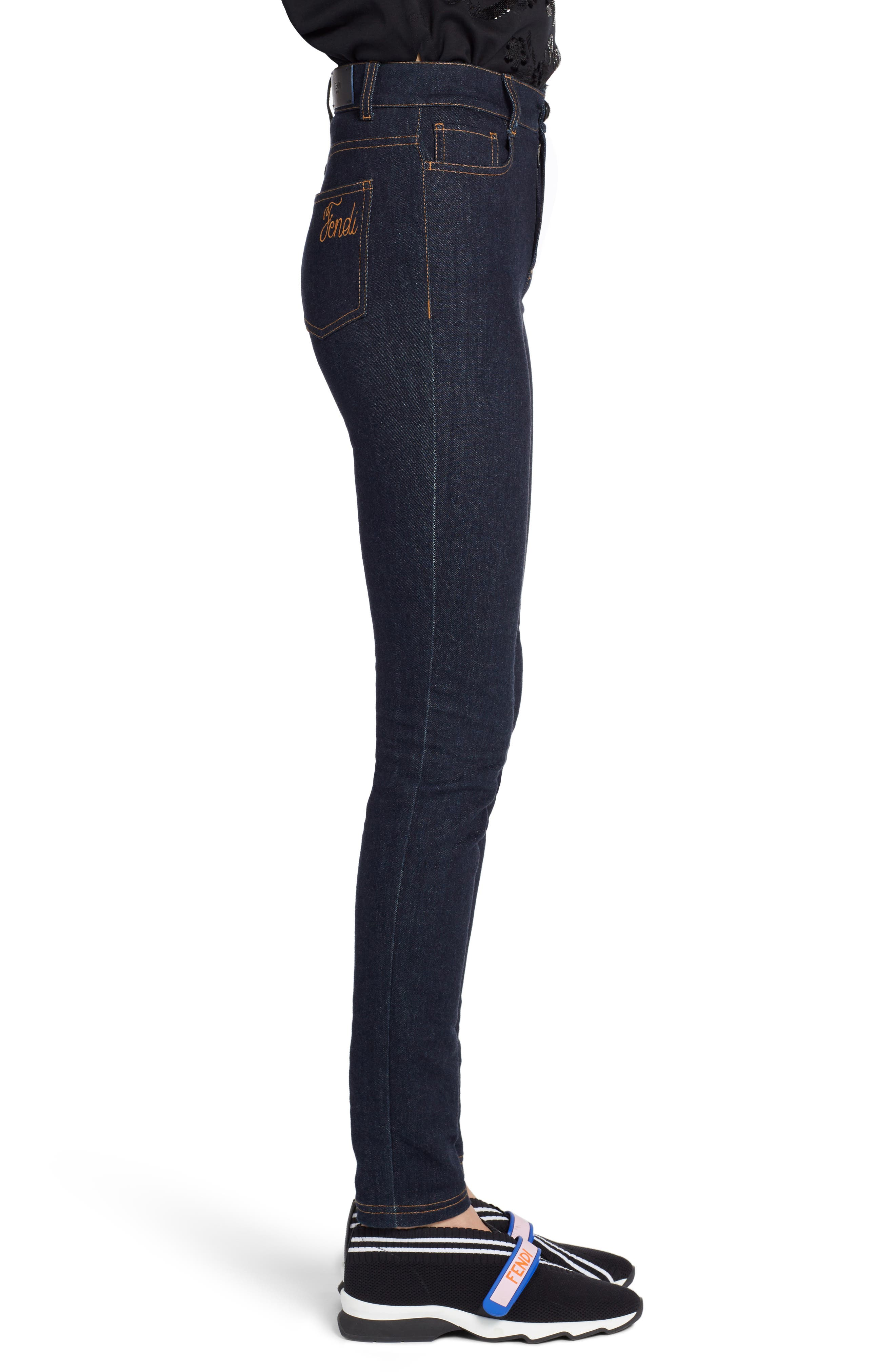 Skinny Jeans,                             Alternate thumbnail 3, color,                             BLUE