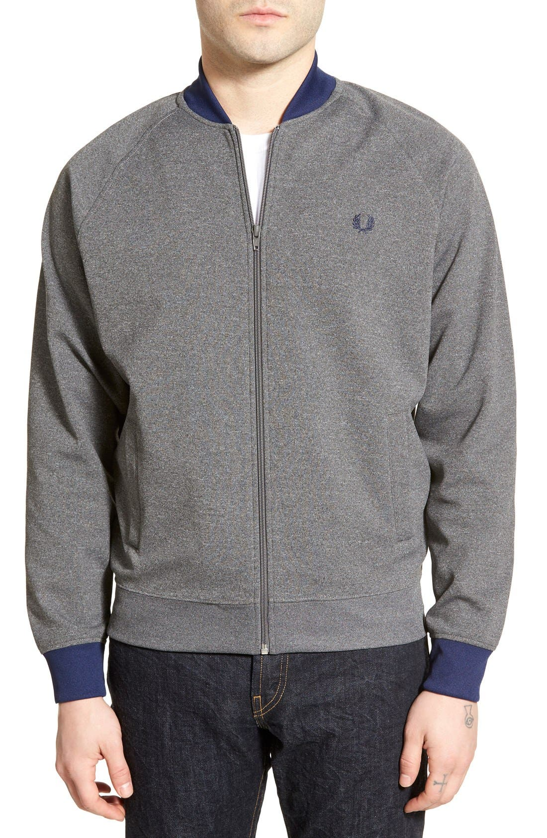 FRED PERRY Bomber Track Jacket, Main, color, 024