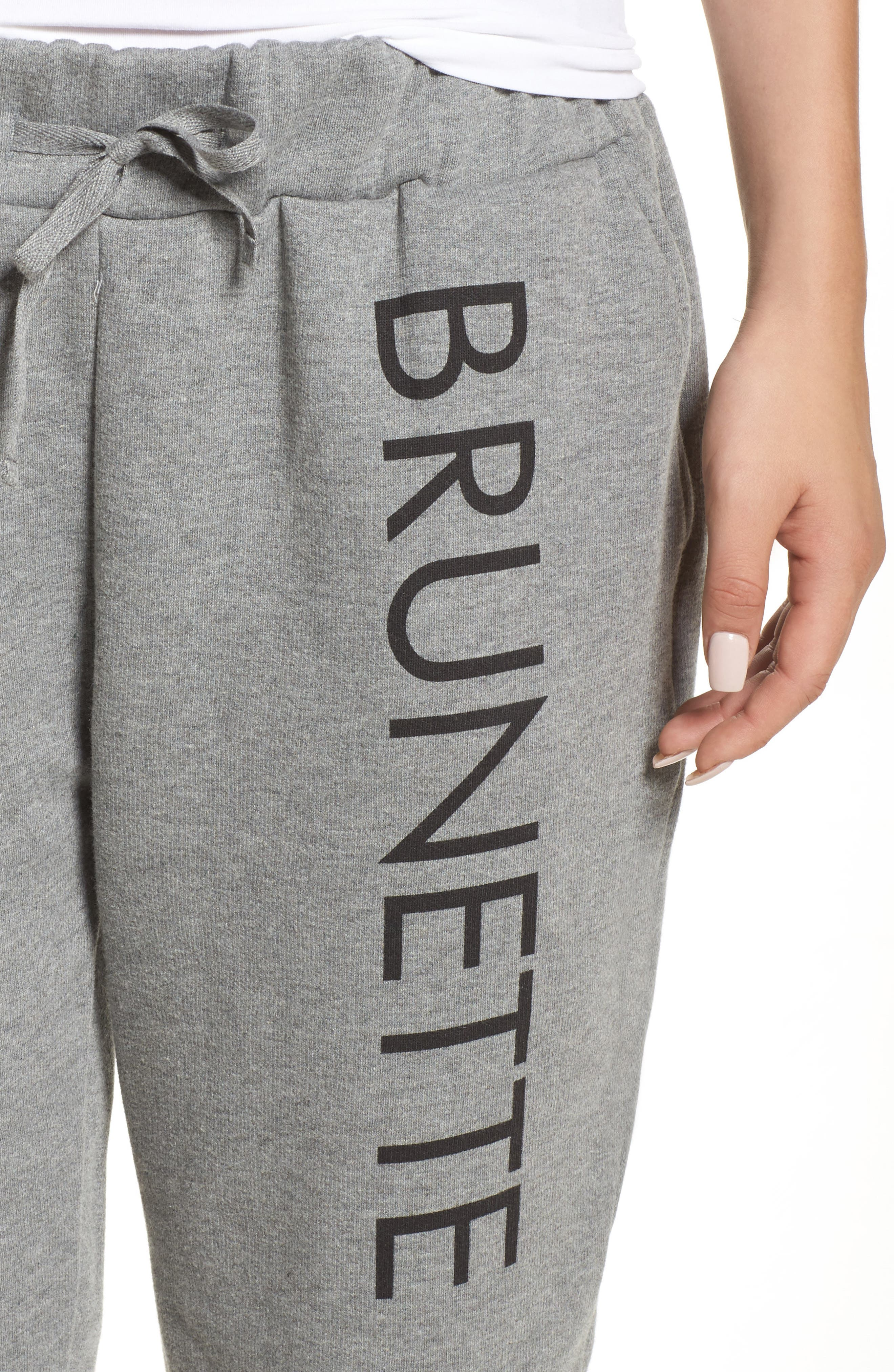 Brunette Jogger Pants,                             Alternate thumbnail 4, color,                             020