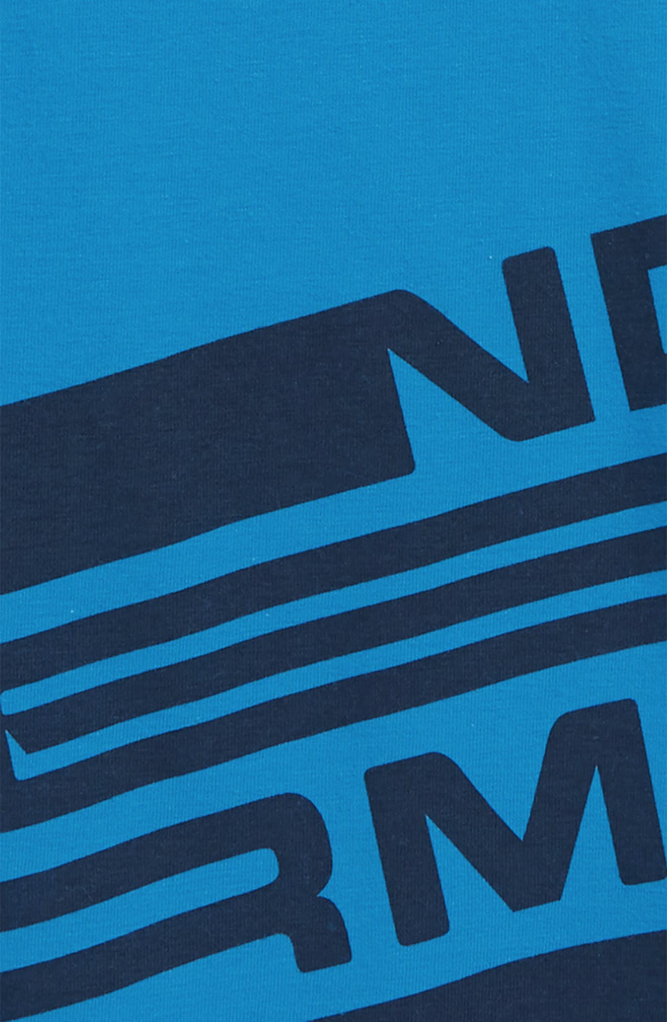 Spatter Branded HeatGear<sup>®</sup> T-Shirt,                             Alternate thumbnail 2, color,                             BRILLIANT BLUE / ACADEMY