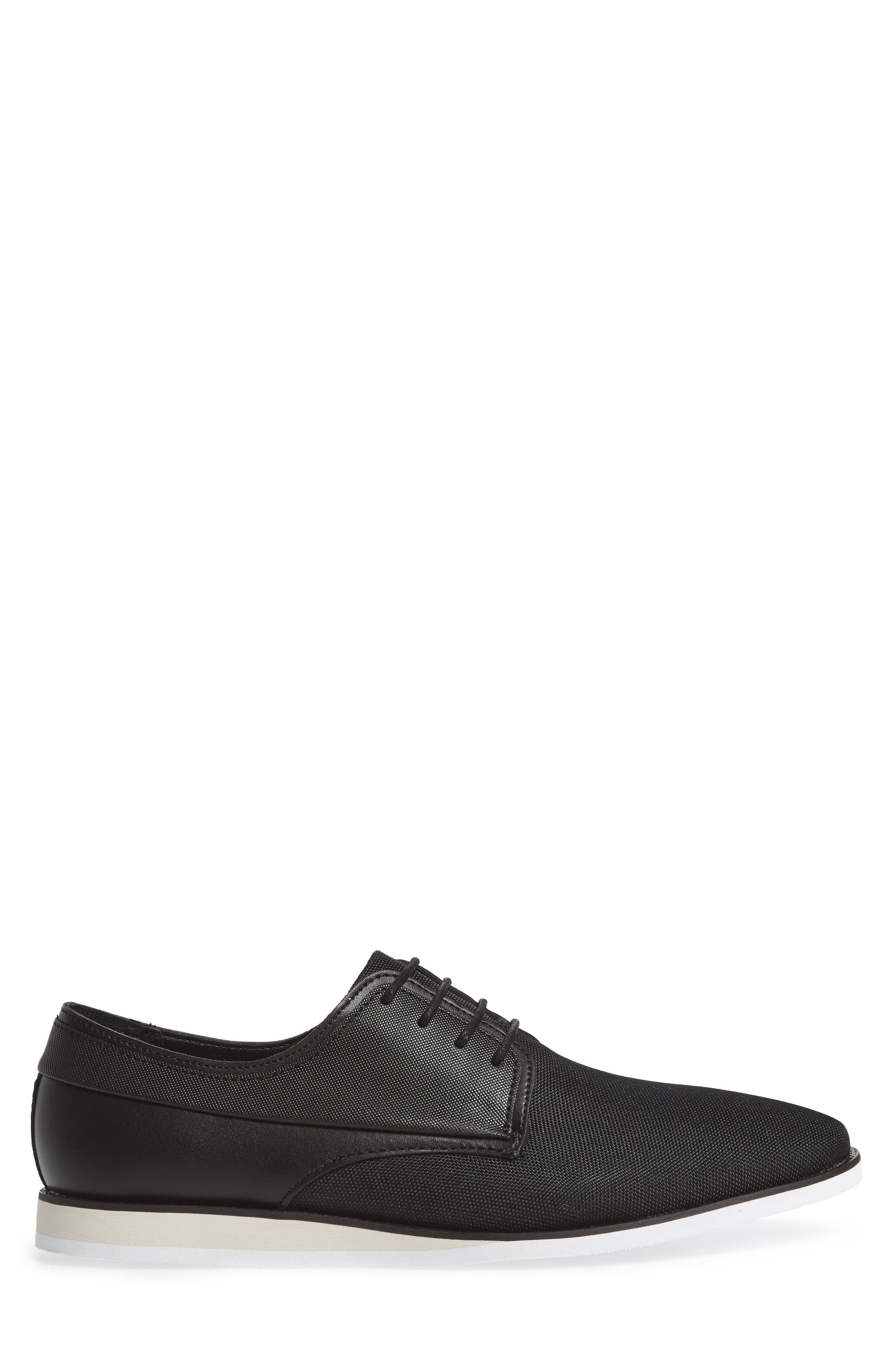 Kellen City Embossed Casual Derby,                             Alternate thumbnail 3, color,                             001