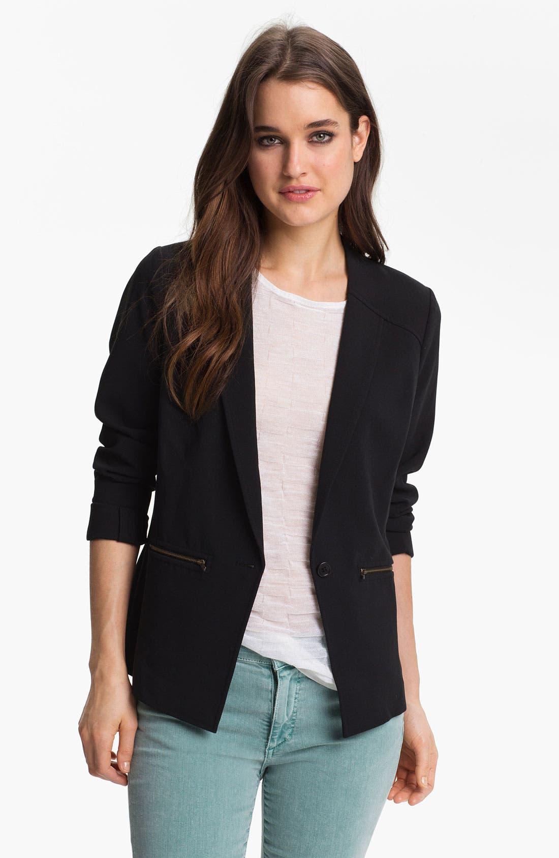 Zip Pocket Blazer,                         Main,                         color, 001