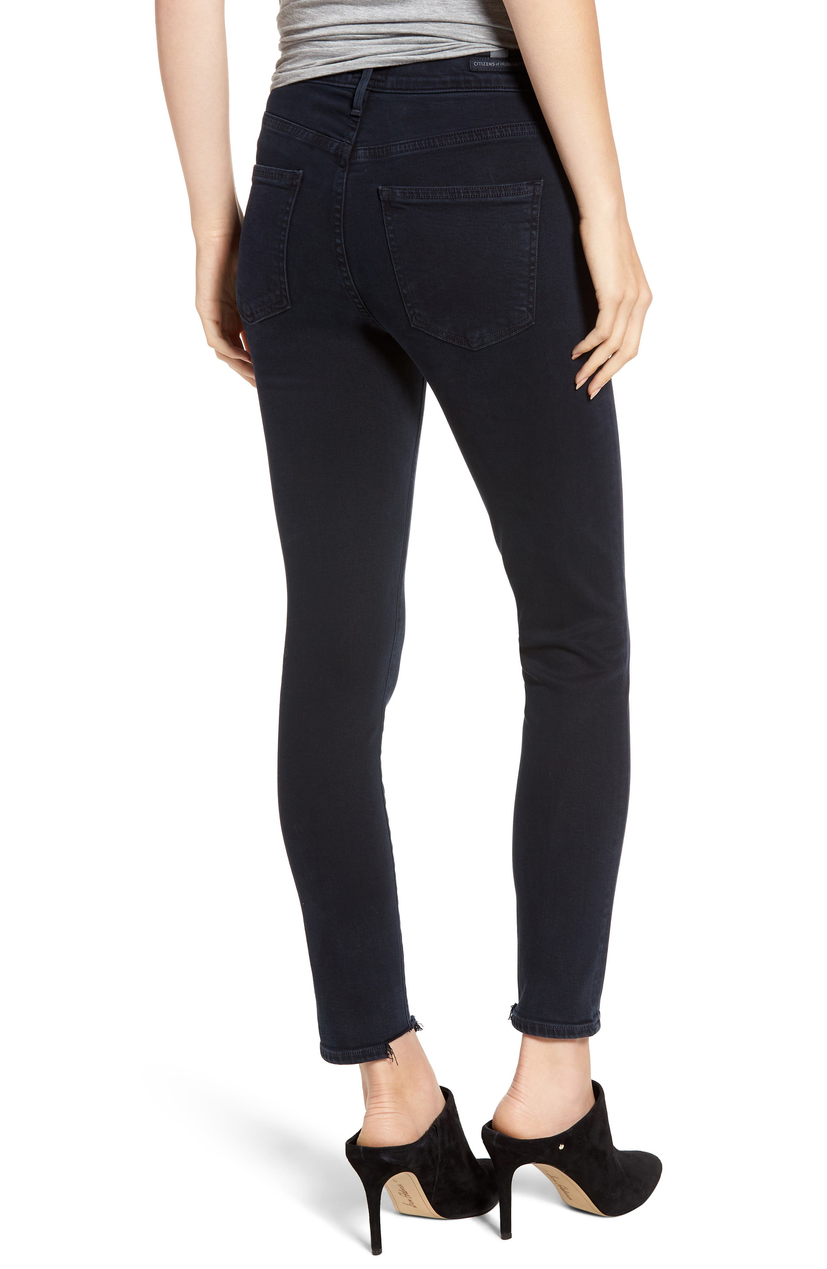 CITIZENS OF HUMANITY,                             Rocket High Waist Crop Skinny Jeans,                             Alternate thumbnail 2, color,                             BLUE PRINT