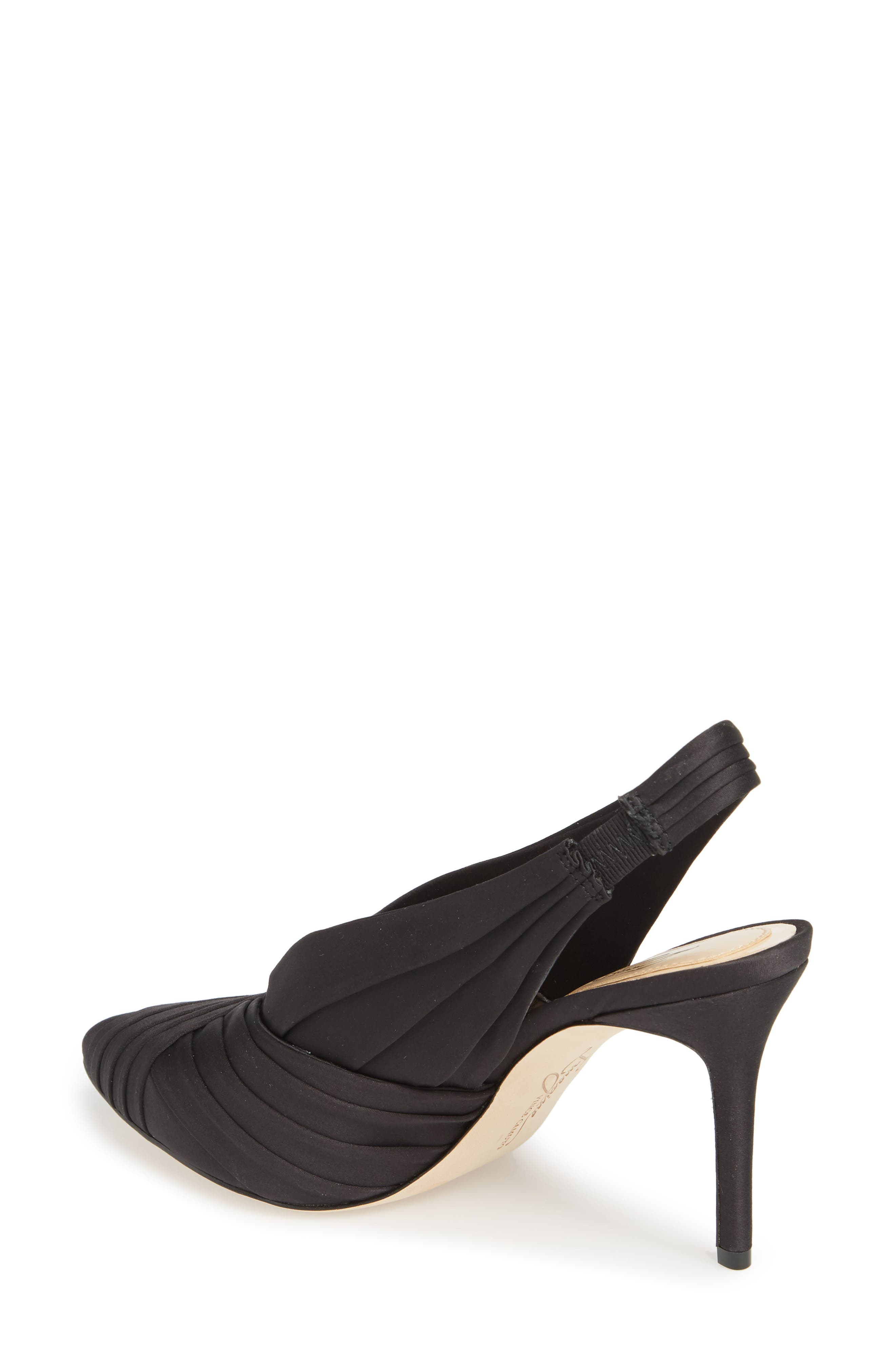 Melkia Pump,                             Alternate thumbnail 2, color,                             BLACK SATIN