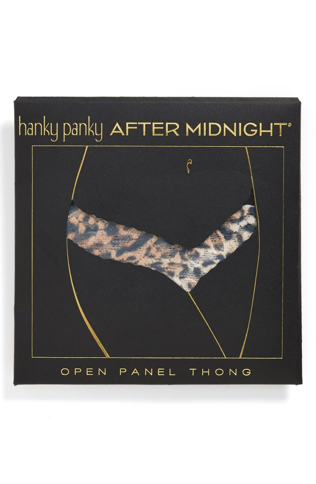'After Midnight' Open Gusset Lace Thong,                             Alternate thumbnail 3, color,                             200