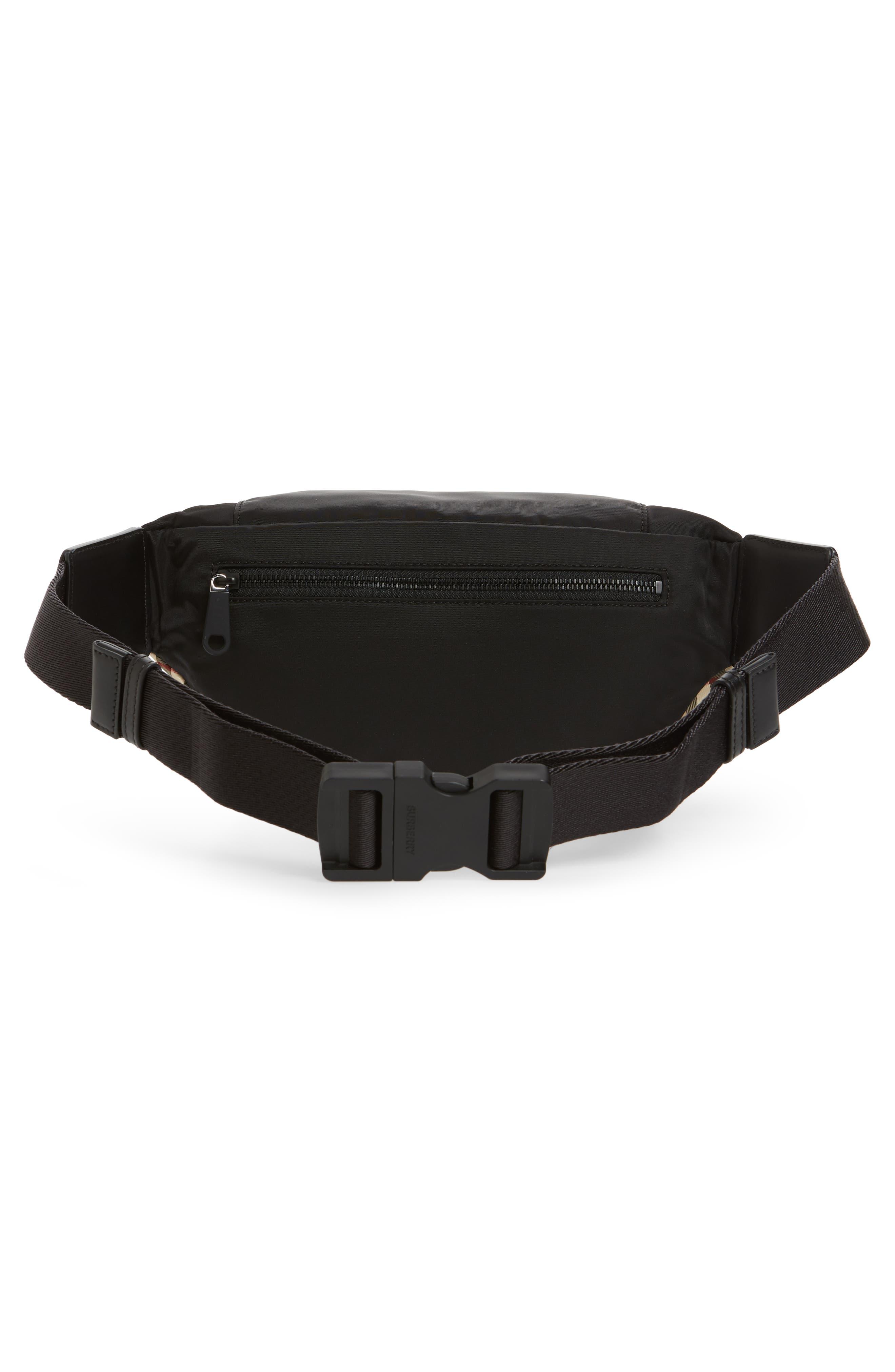 BURBERRY,                             Burberrry Medium Sonny Vintage Check Belt Bag,                             Alternate thumbnail 4, color,                             ARCHIVE BEIGE